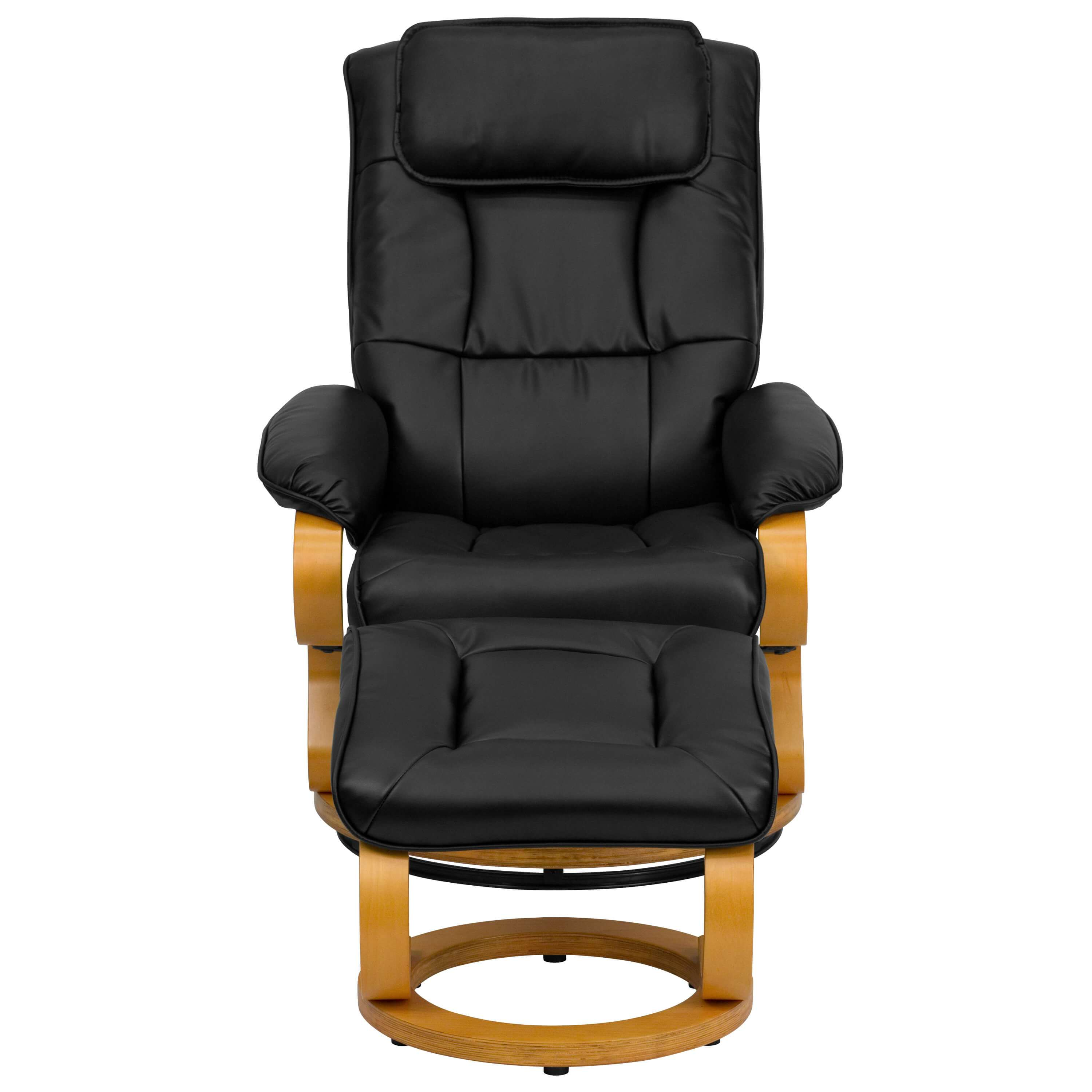 High back recliner chair front view