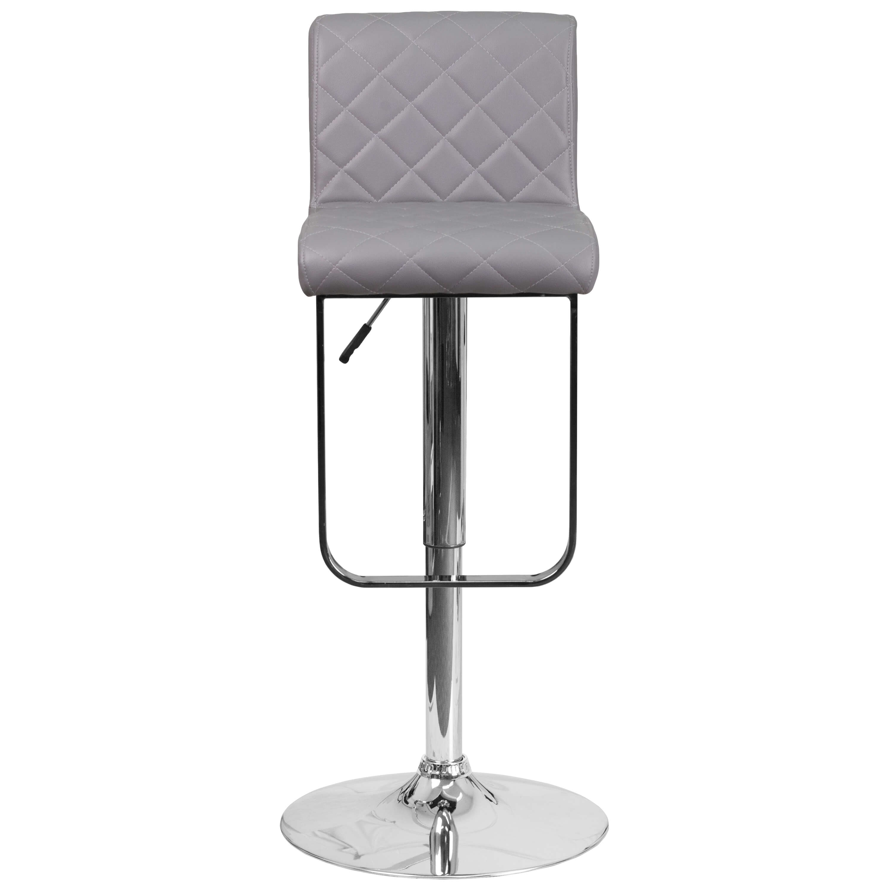 High bar stools front view