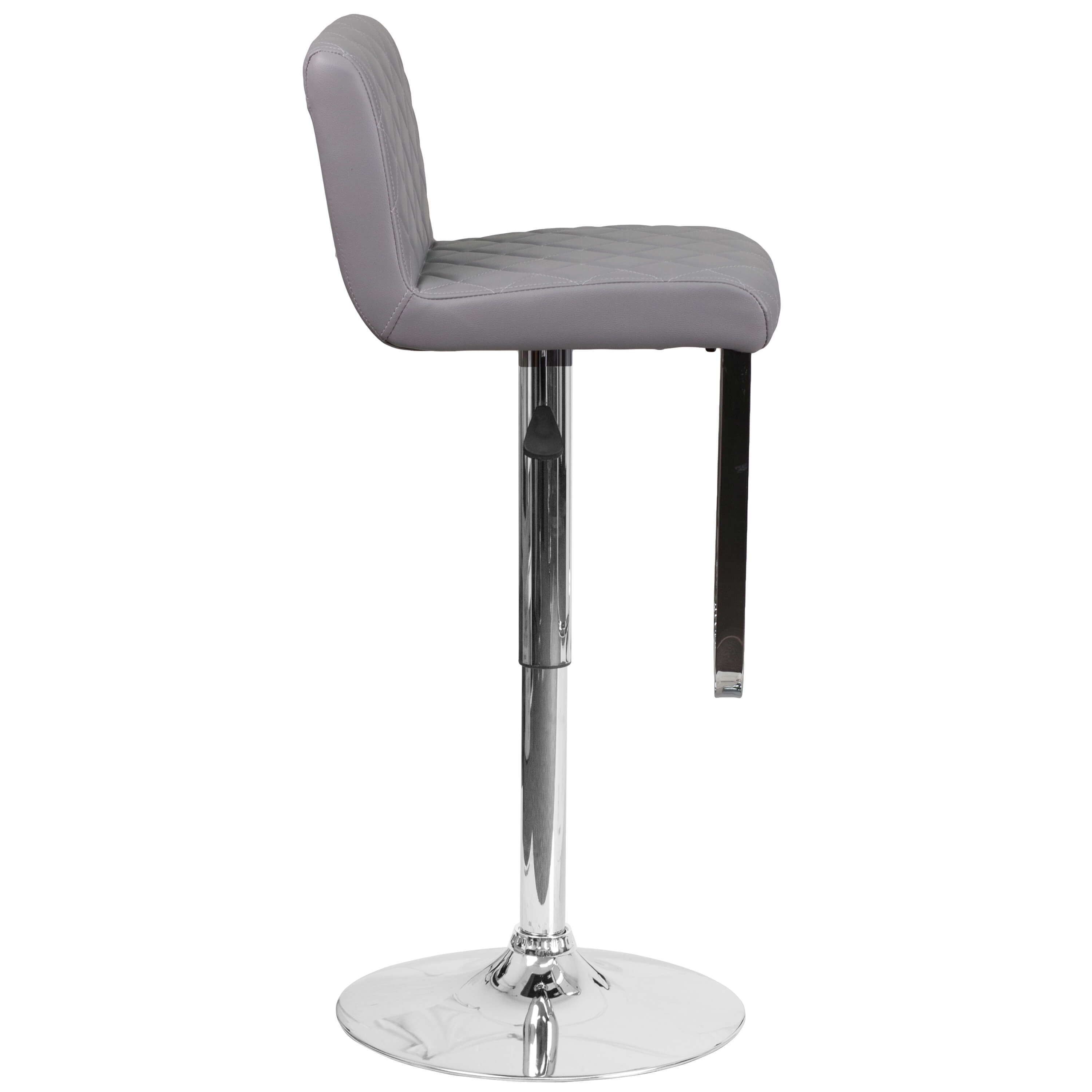 High bar stools side view