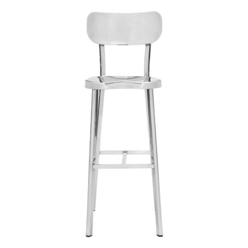 High stools with back front view