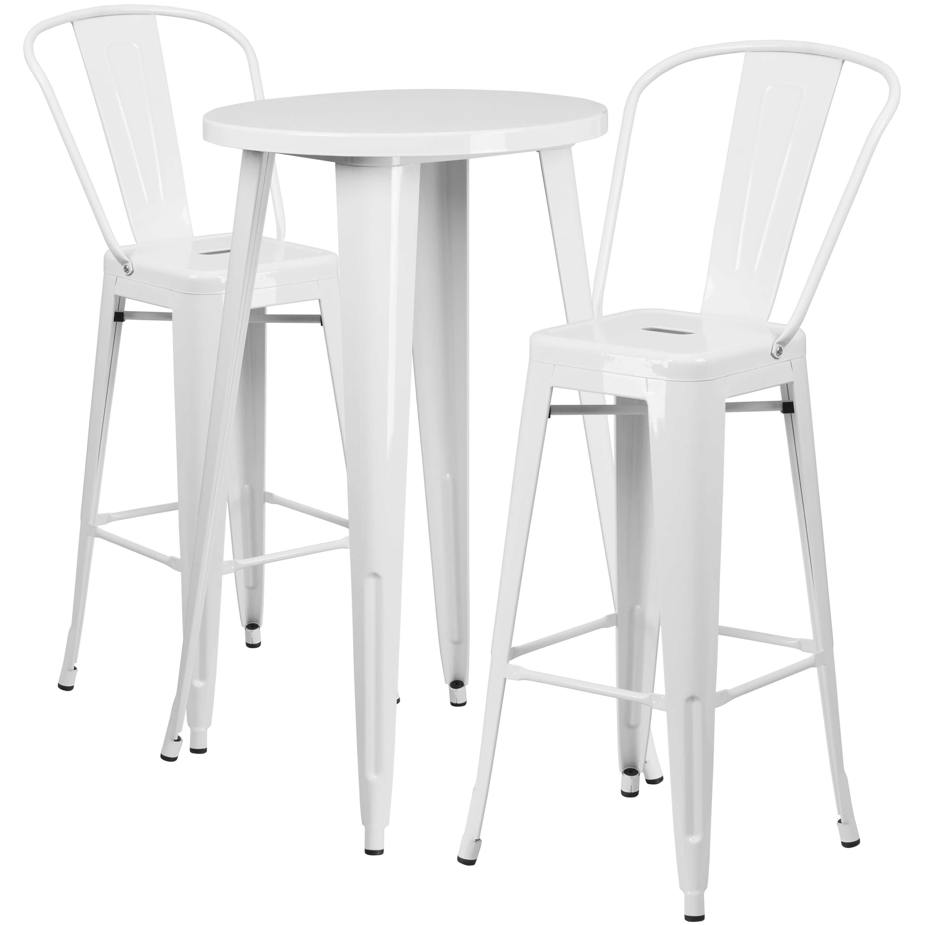 High top table set CUB CH 51080BH 2 30CAFE WH GG FLA