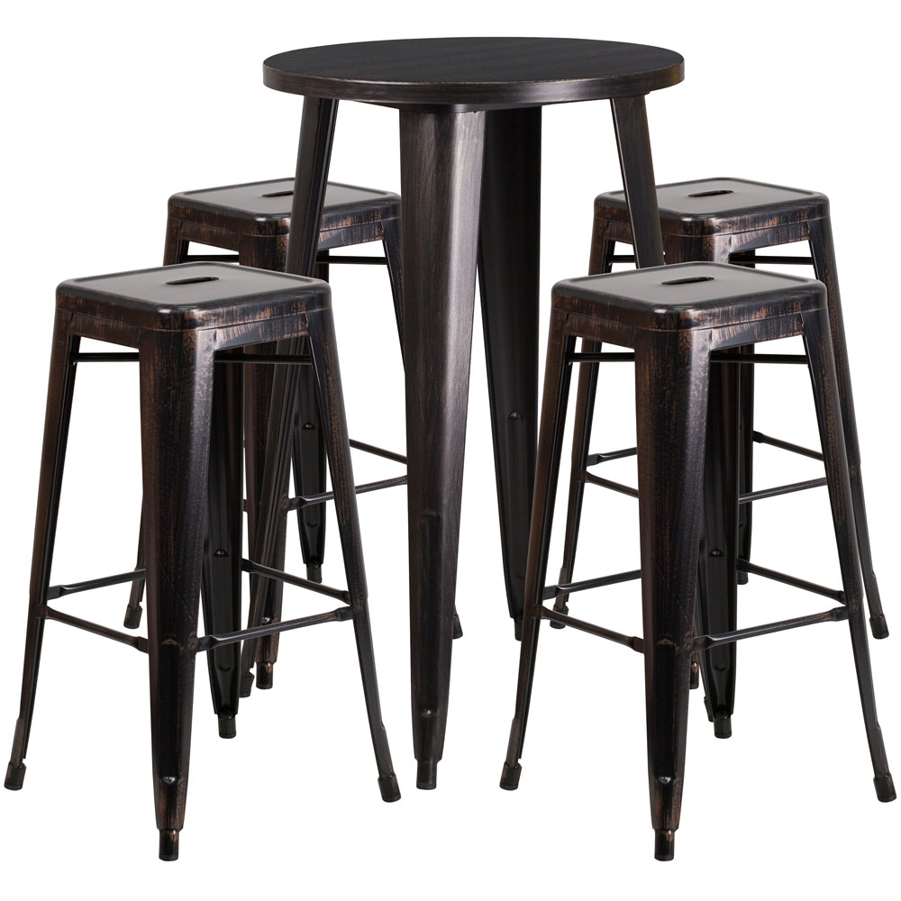 High top table set CUB CH 51080BH 4 30SQST BQ GG FLA