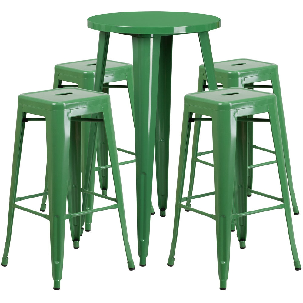High top table set CUB CH 51080BH 4 30SQST GN GG FLA
