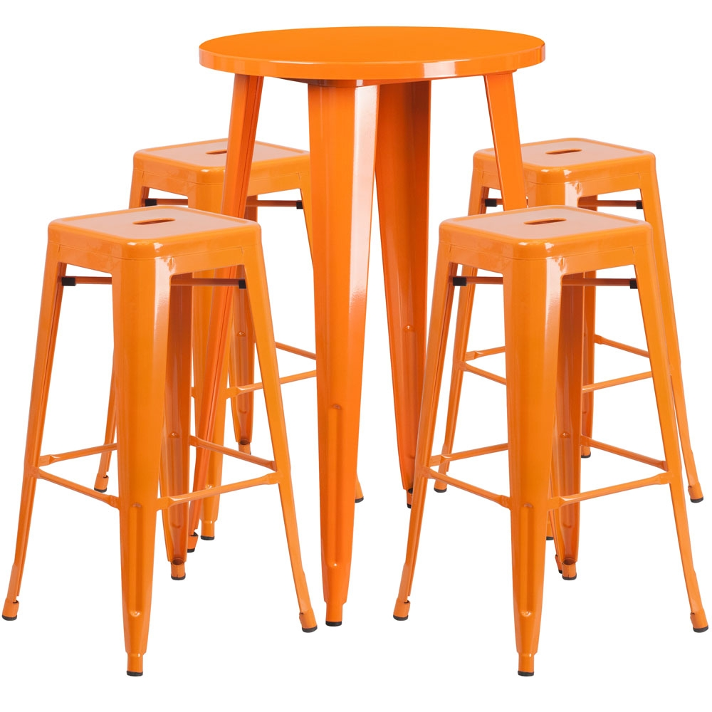 High top table set CUB CH 51080BH 4 30SQST OR GG FLA