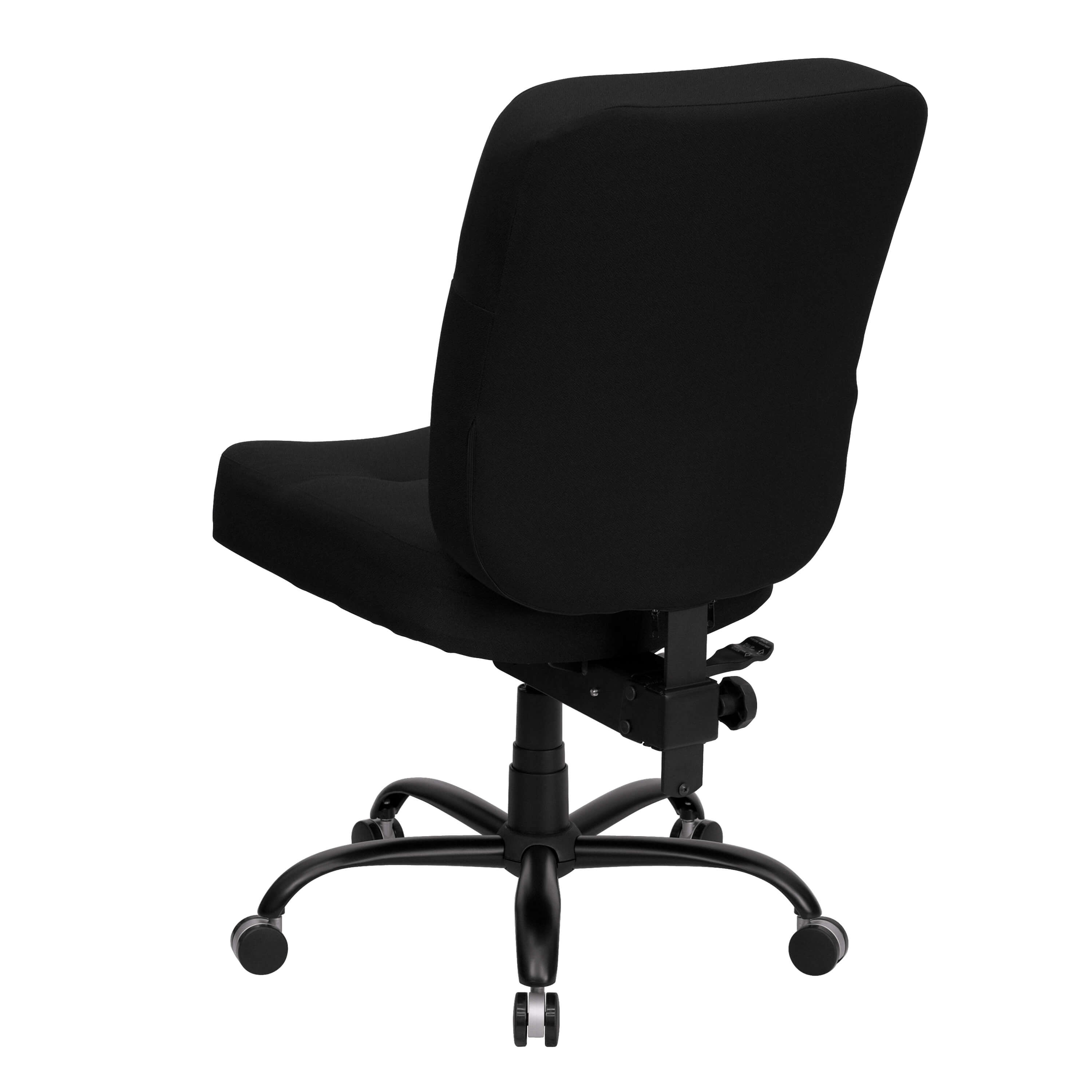 High weight capacity office chair back view