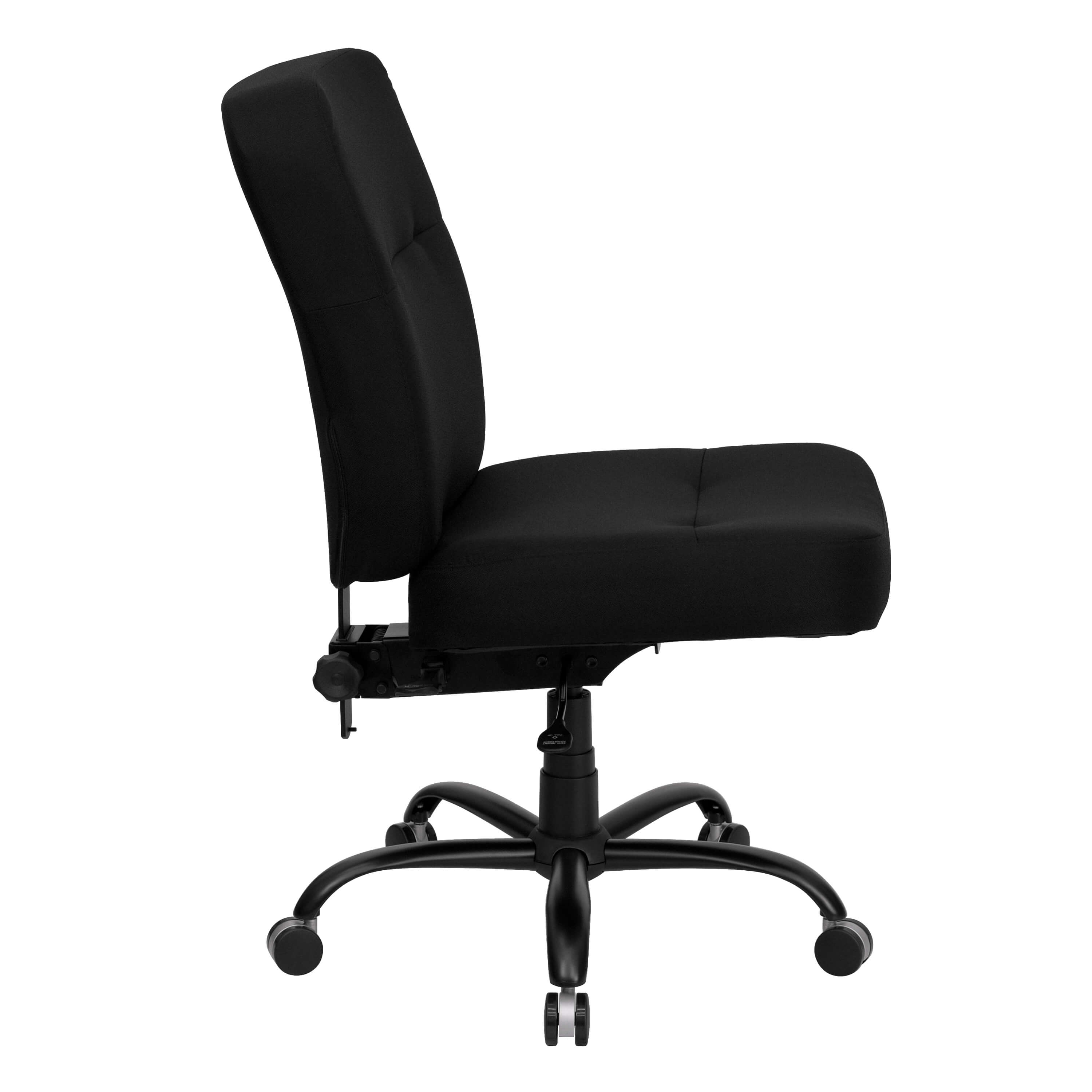 High weight capacity office chair side view