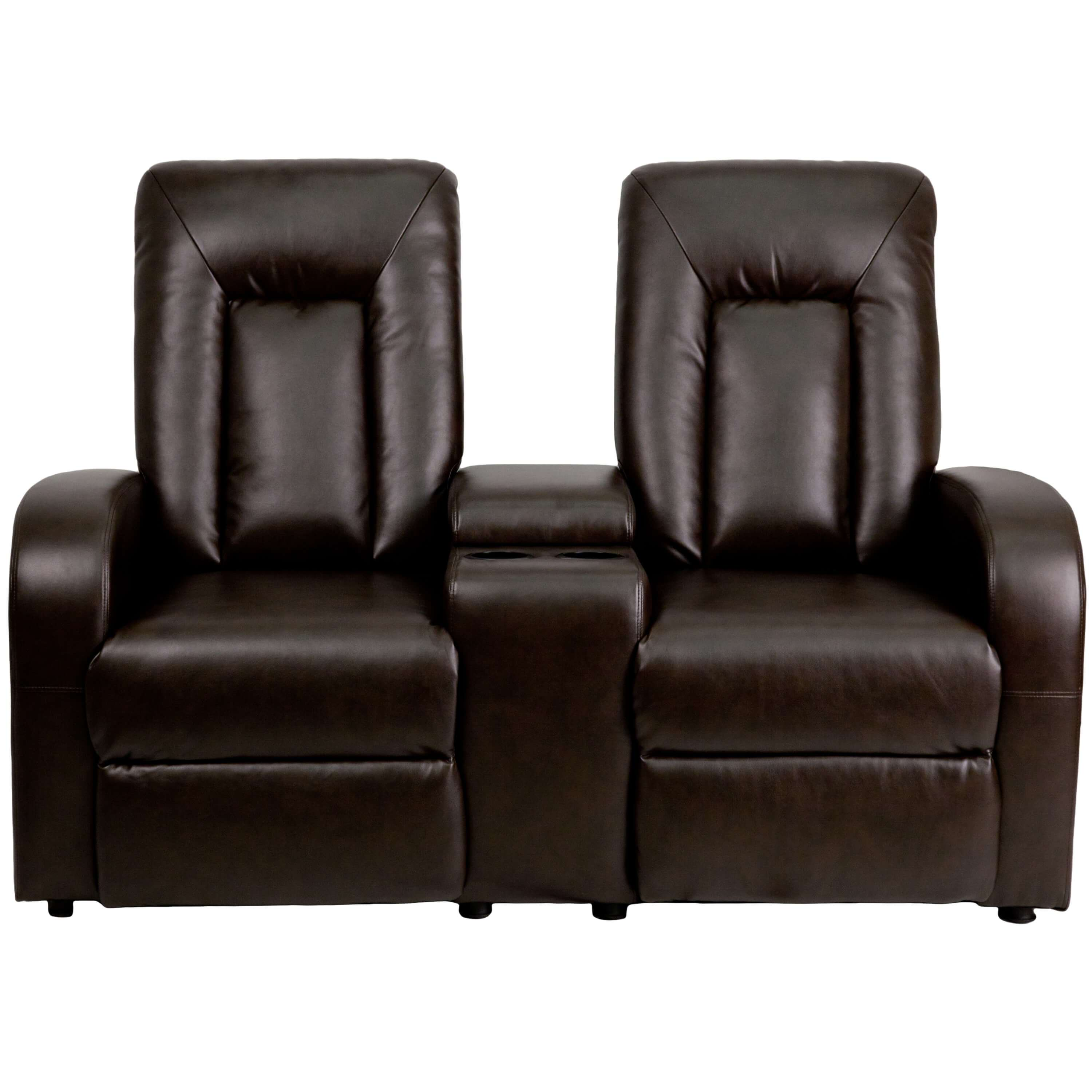 Home theater recliners CUB BT 70259 2 P BRN GG FLA