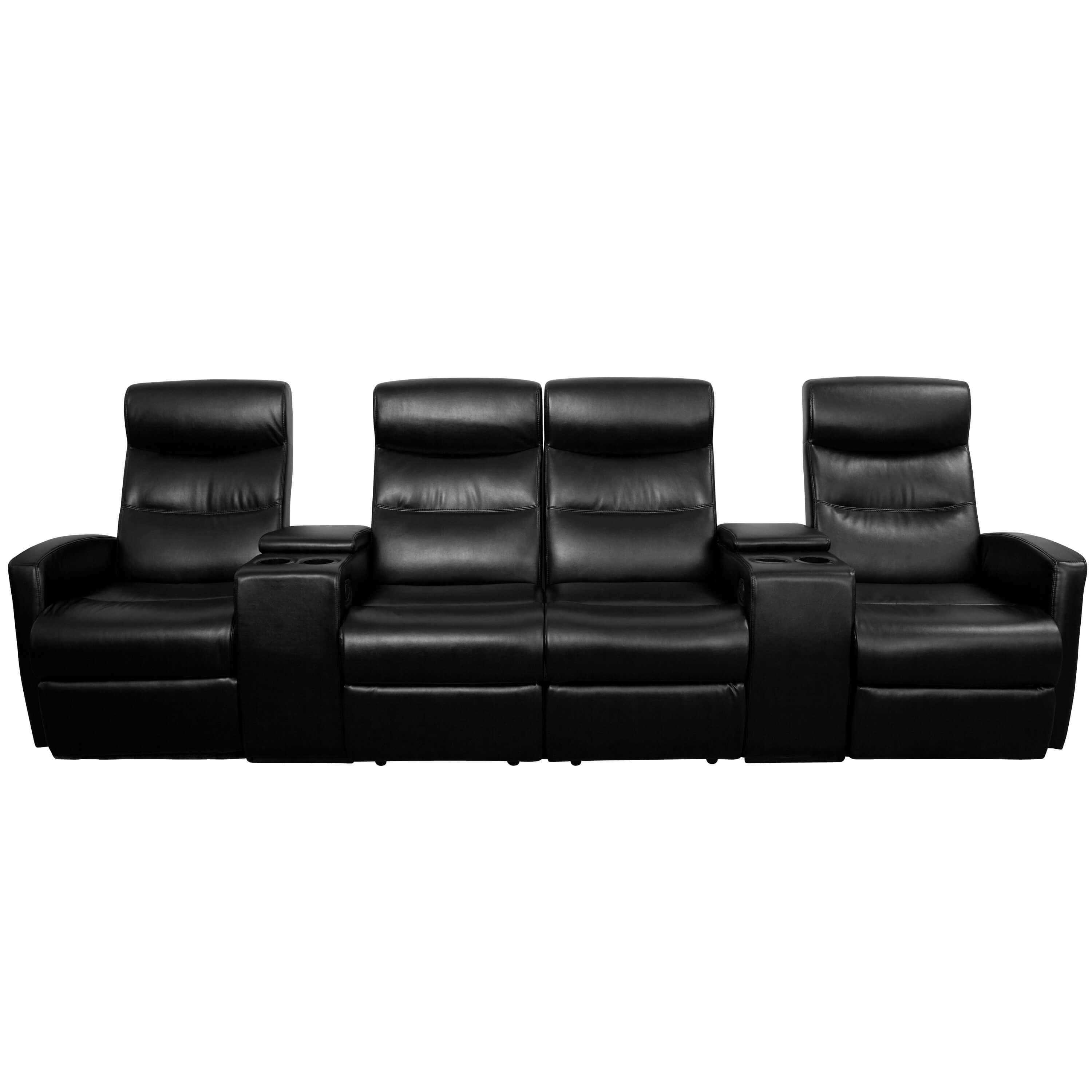 Home theatre seating 4 seater recliner sofa