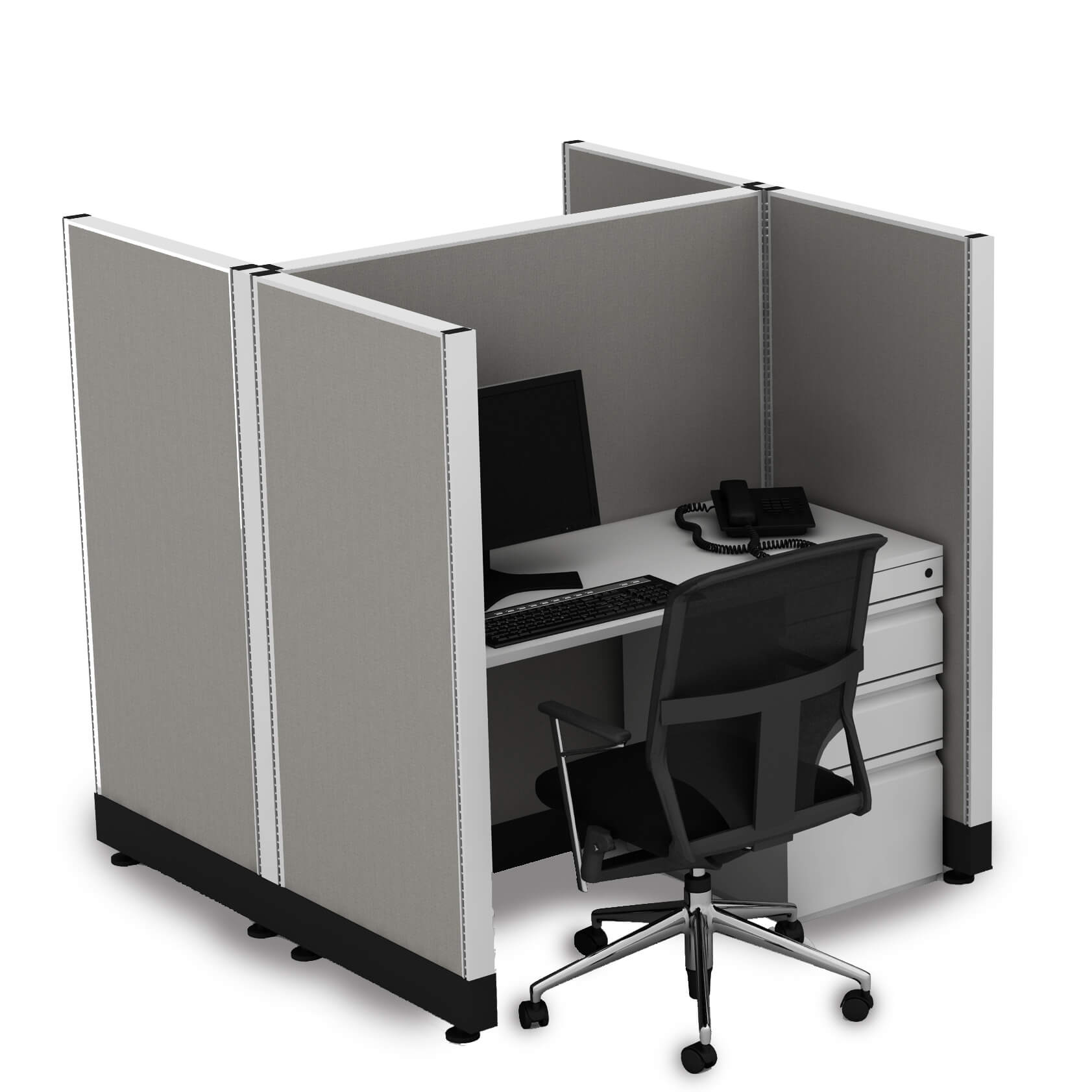 Hot desking hotelling station 2 pack powered