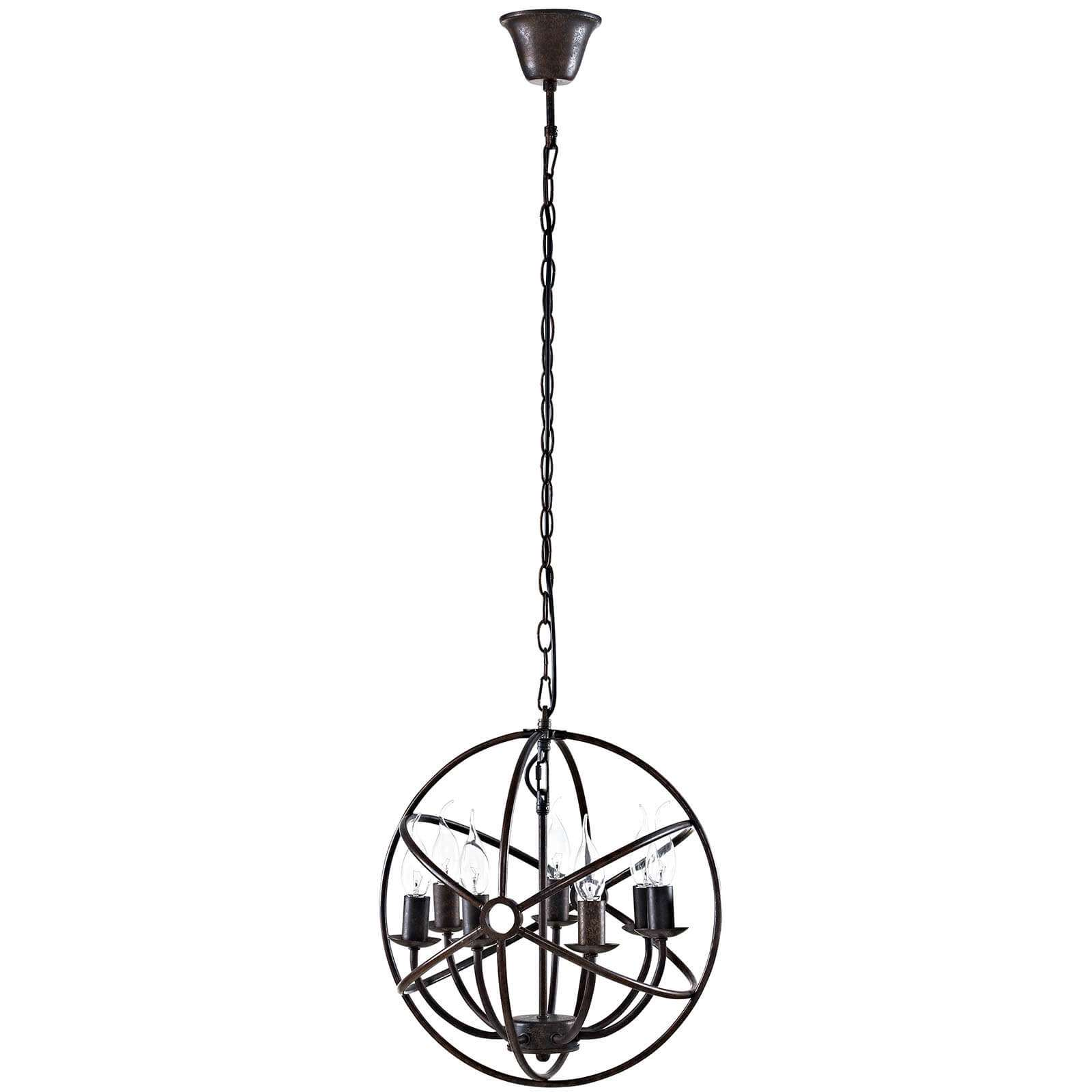 Industrial hanging lights front view