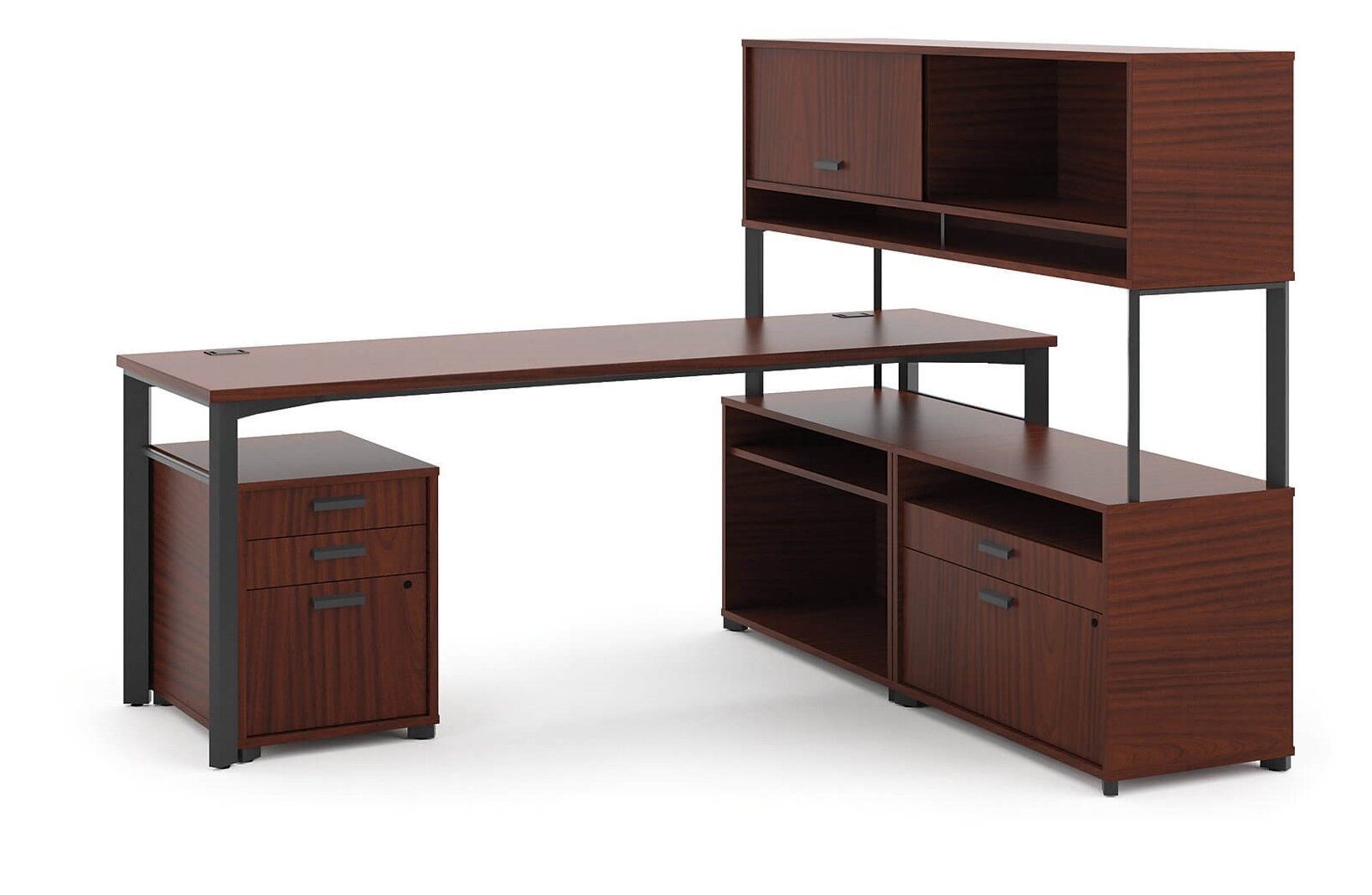 L desk with hutch CUB HMLDPFO7260C NOH_preview