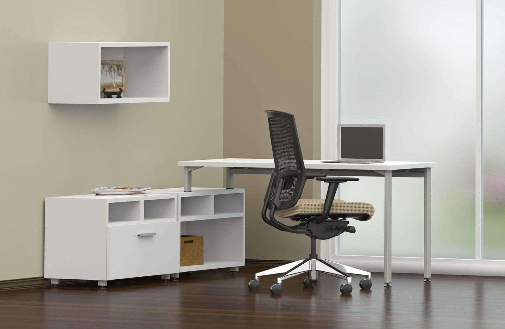 L desk with hutch CUB e5K11 DWS YAM_preview