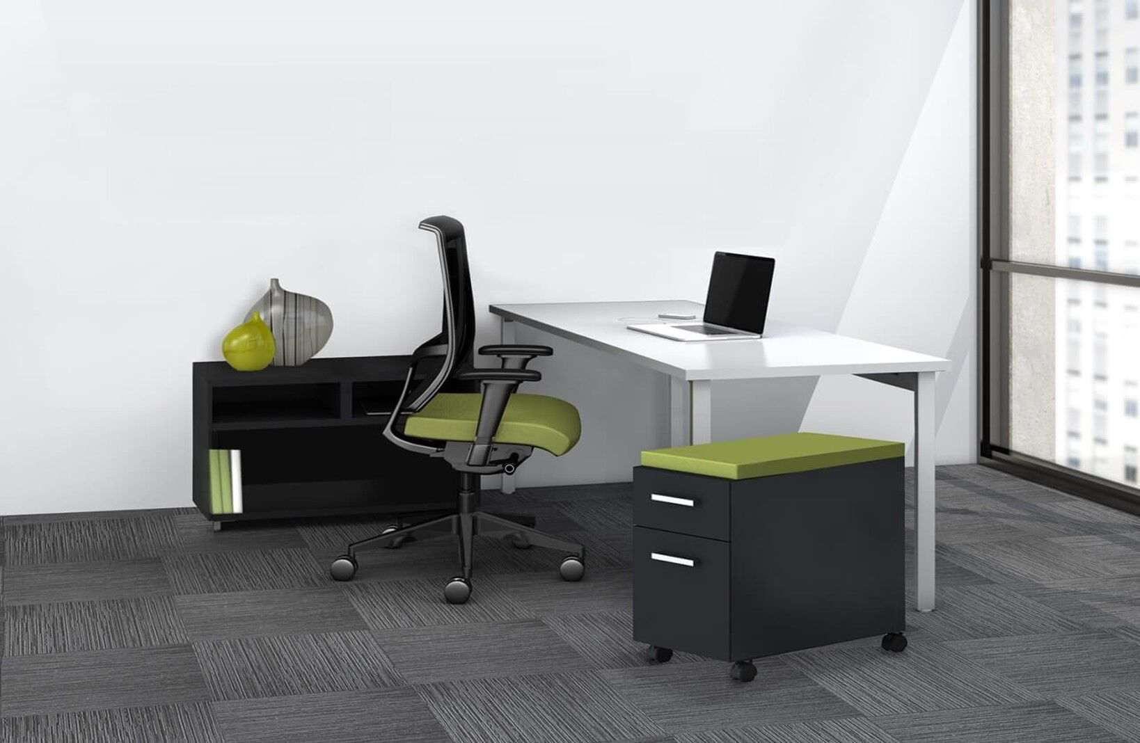 L shaped desk with filing cabinet environmental_preview