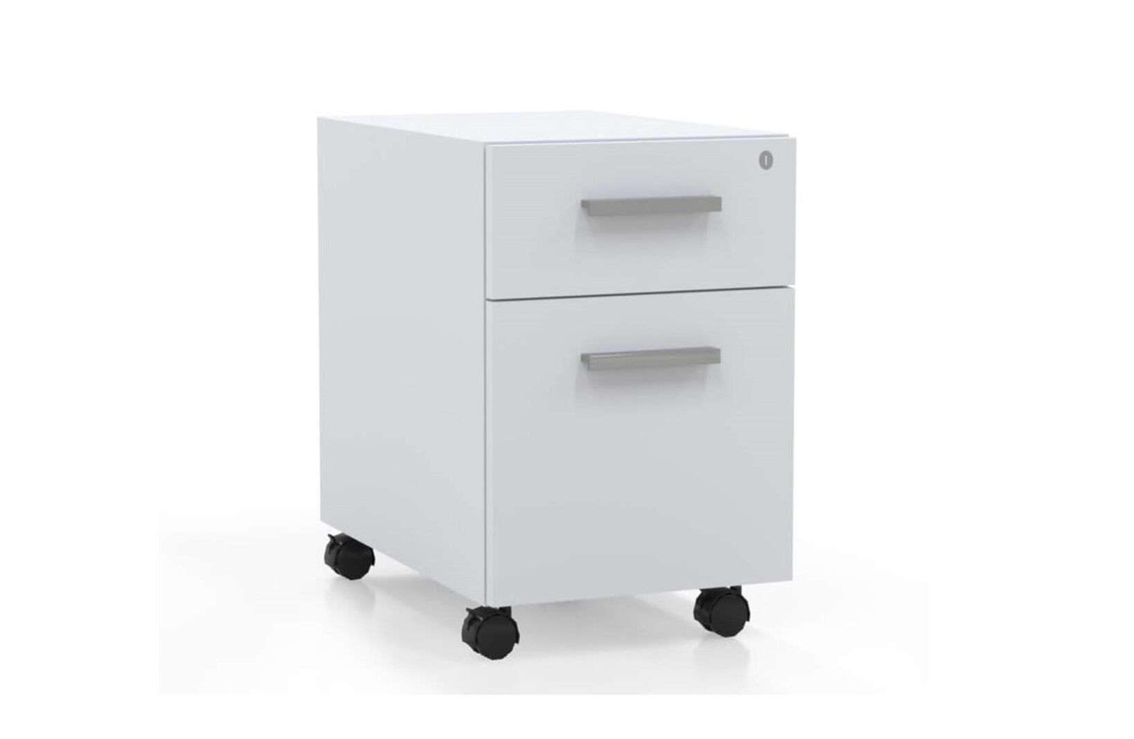 L shaped desk with filing cabinet metal pedestal white_preview