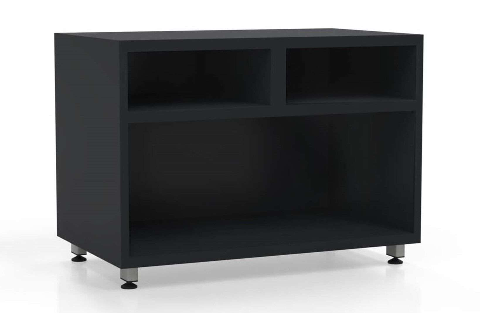 L shaped desk with filing cabinet open storage container raven_preview