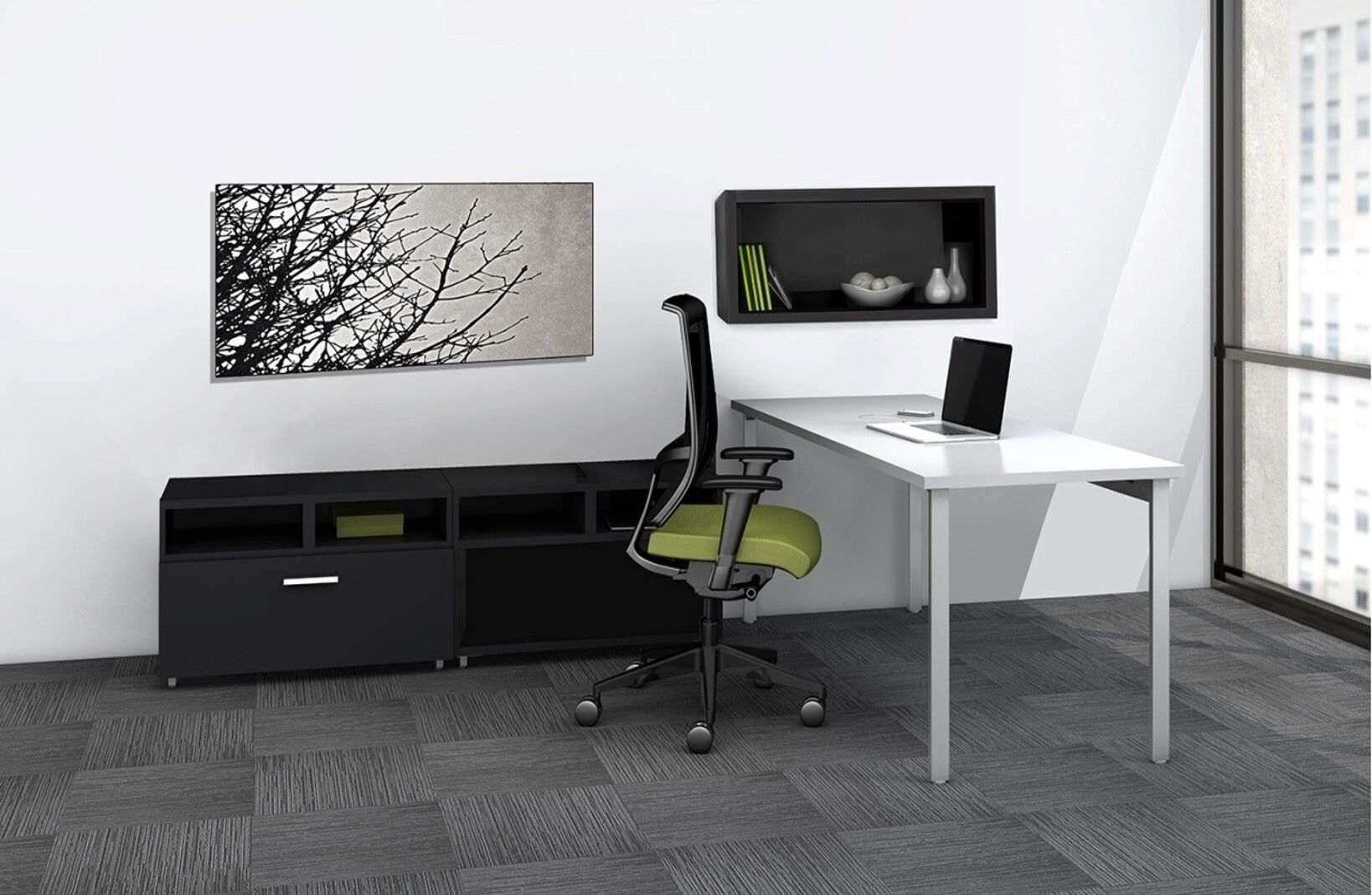 L shaped modern desk environmental_preview