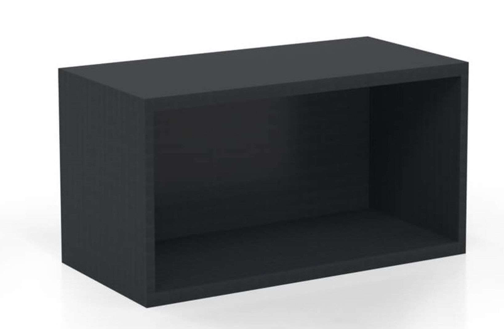 L shaped modern desk wall mount hutch raven_preview