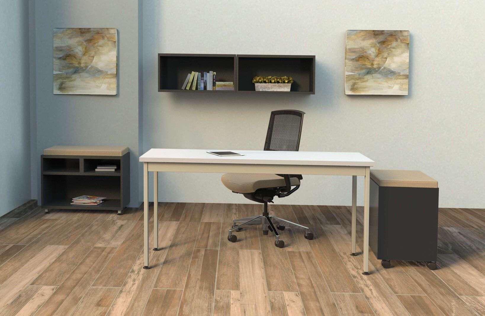 L shaped writing desk environmental front_preview