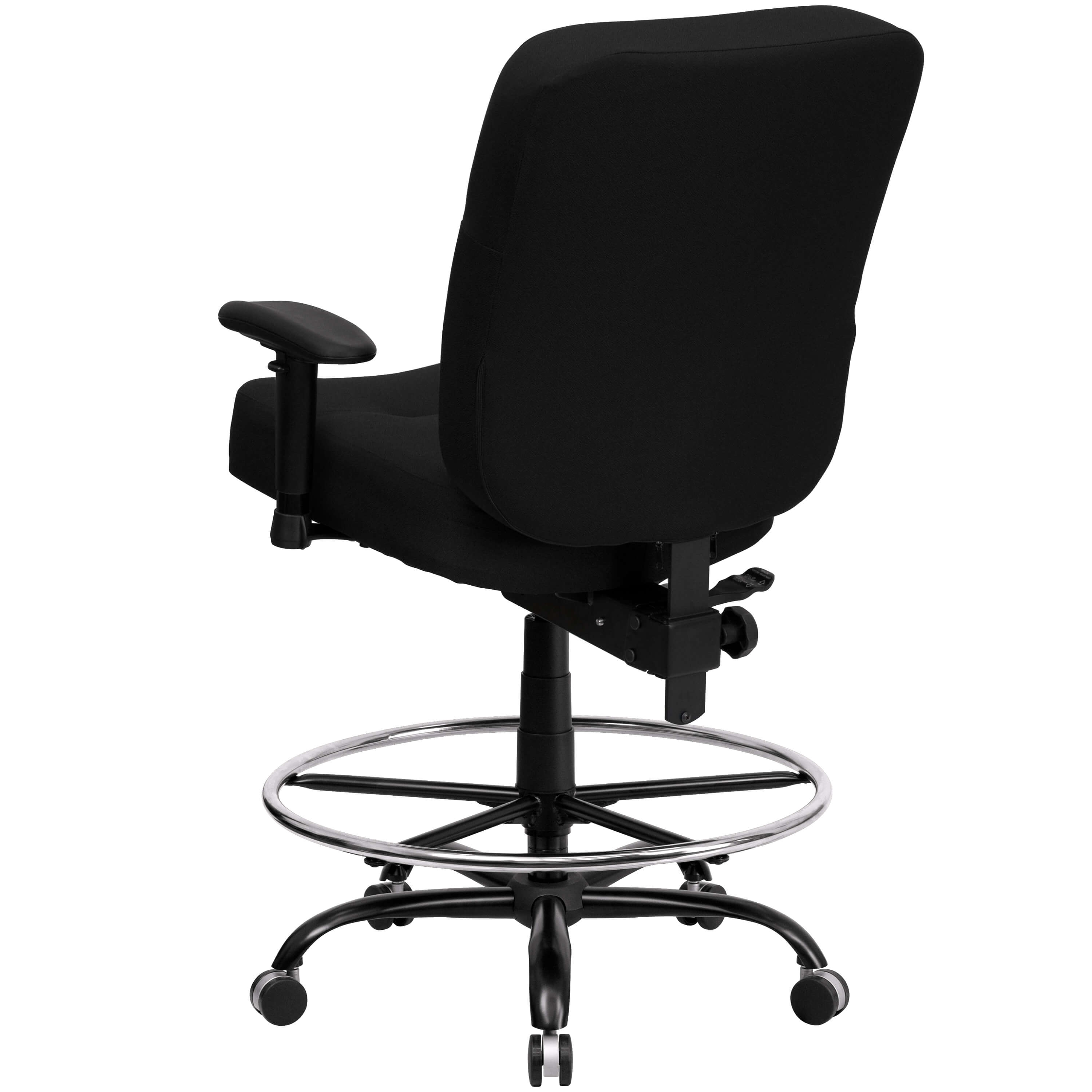Large size office chairs back view