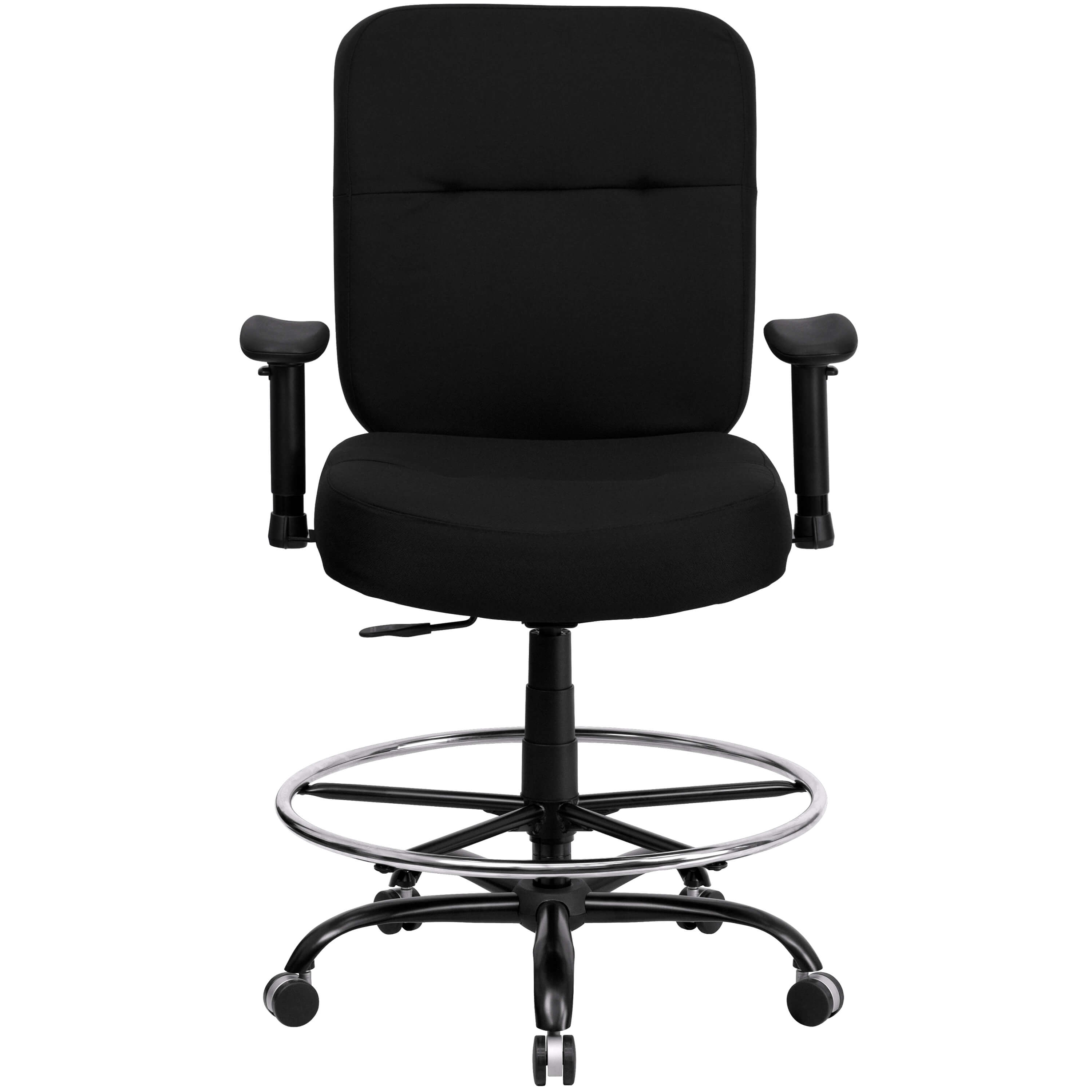 Large size office chairs front view