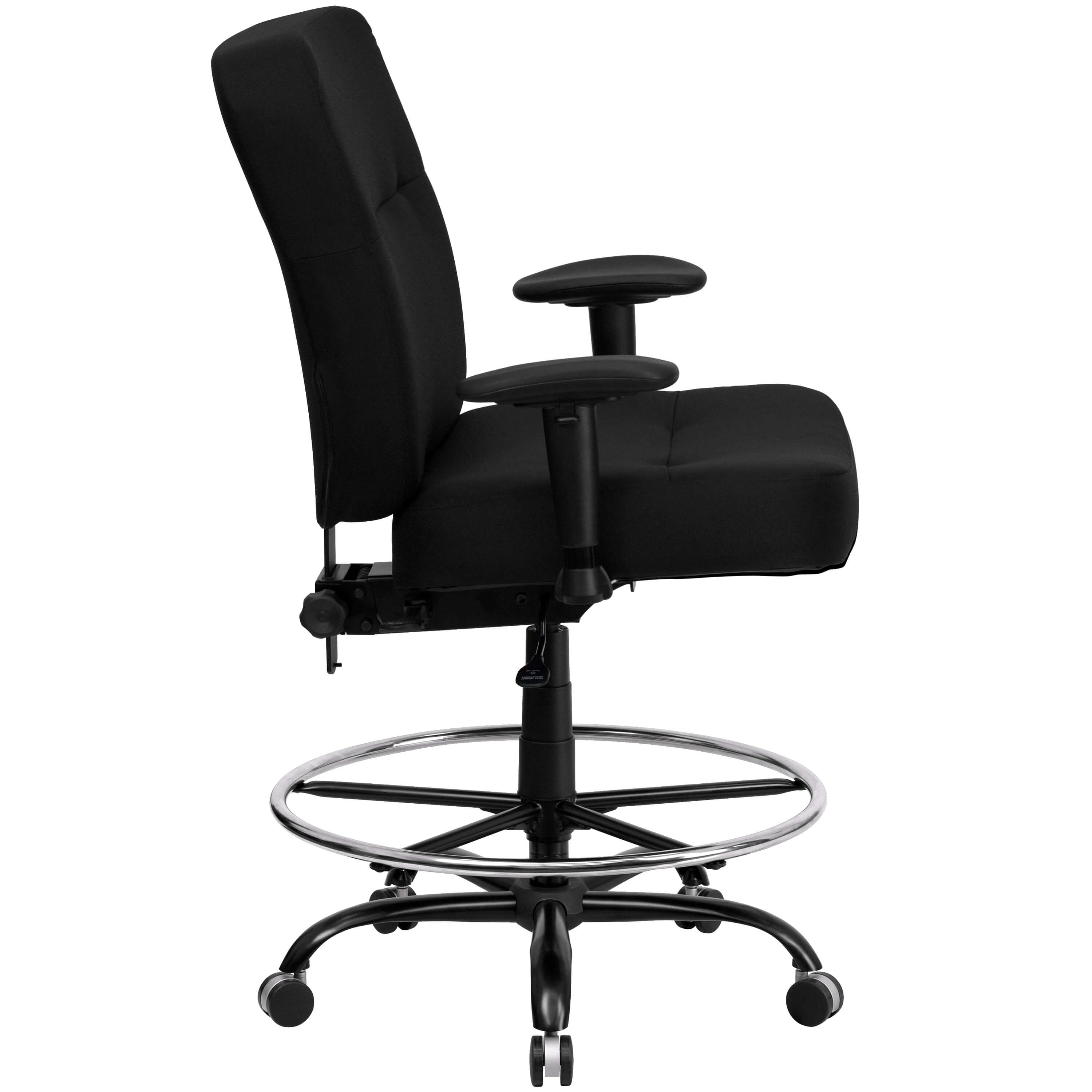 Large size office chairs side view
