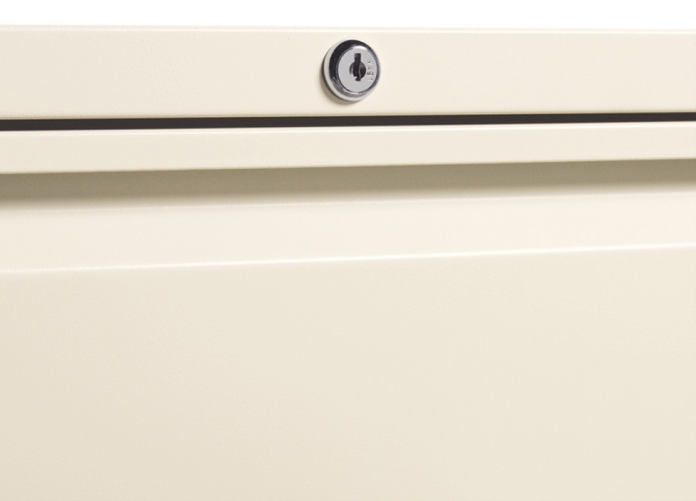 Lateral filing cabinets center lock
