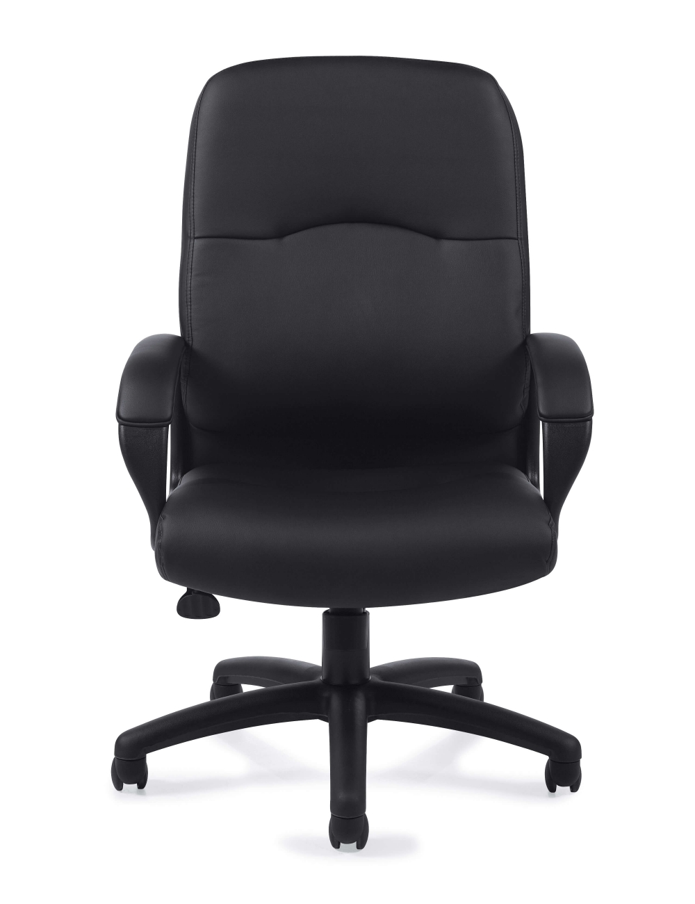 Leather office chair front view