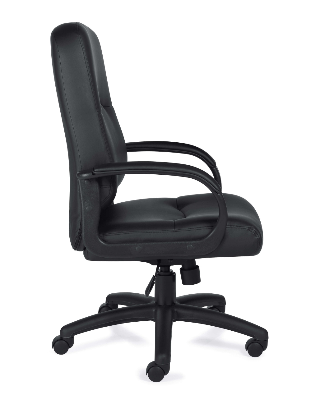 Leather office chair side view