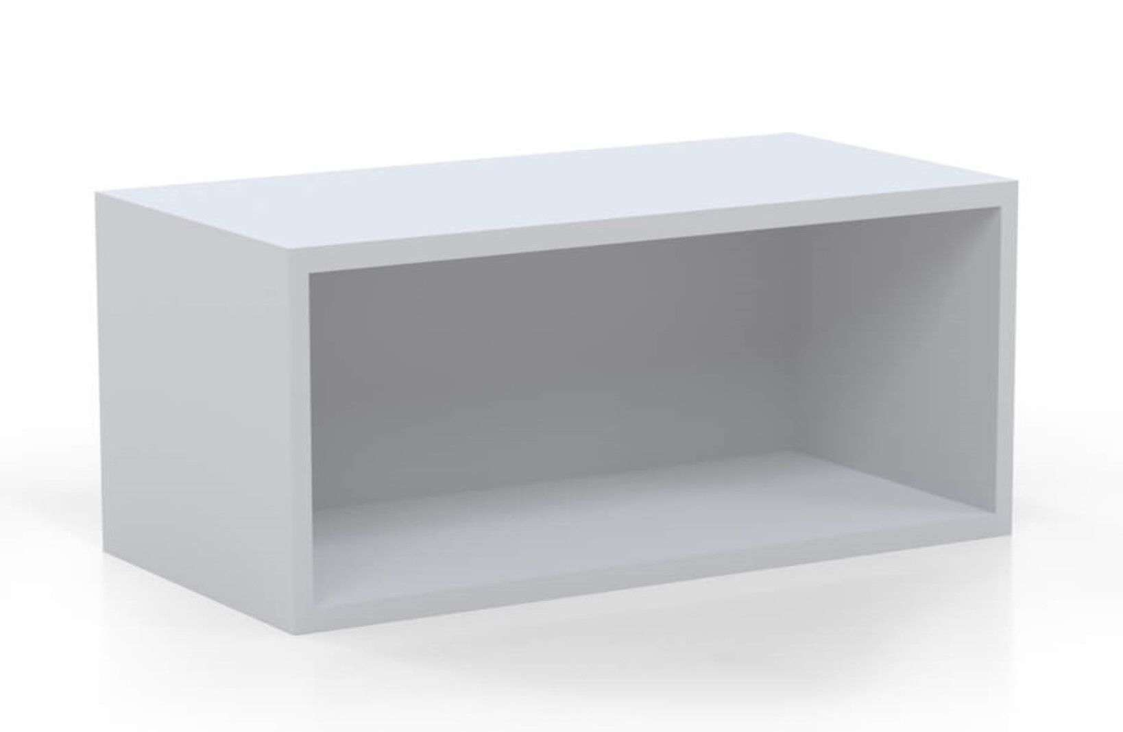 Lshaped desk with side storage wall mount hutch white_preview