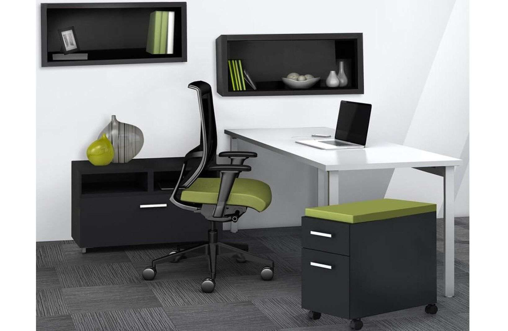 Paco L Shaped Desks for Home Office 60 W x 54 D