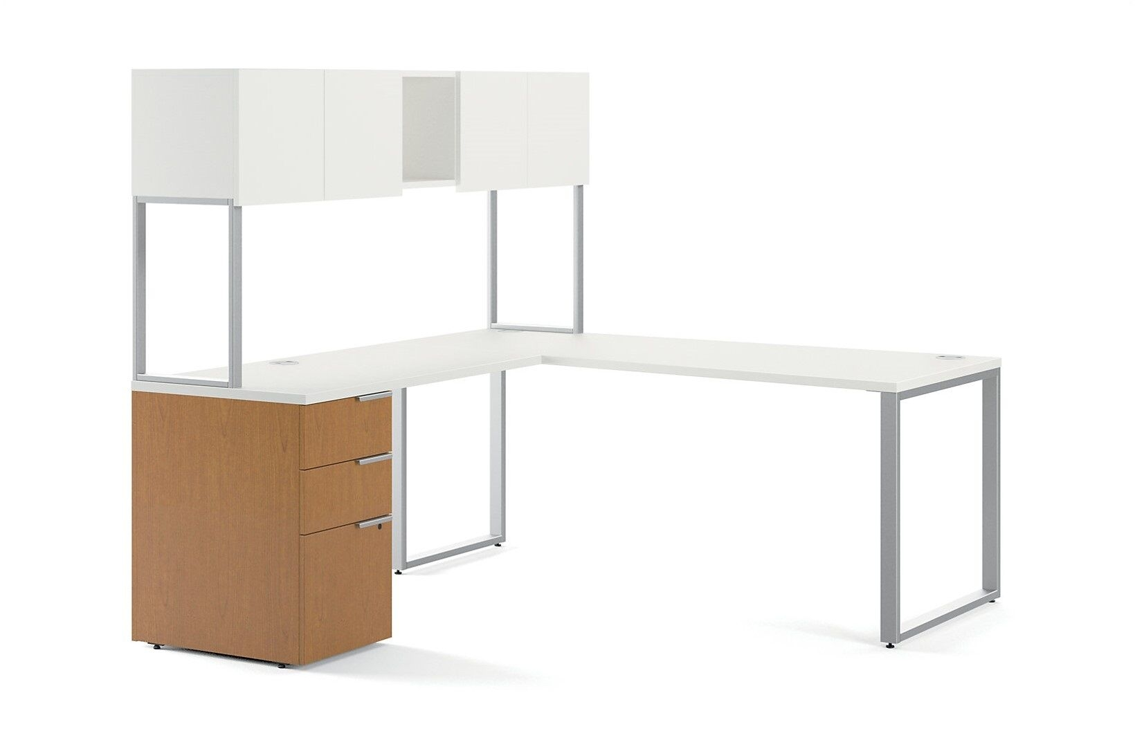 Picture of: L Desk With Hutch Florentine Modern L Desk 72 W X 72 D