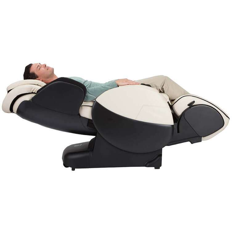Massage chair recliner horizontal view