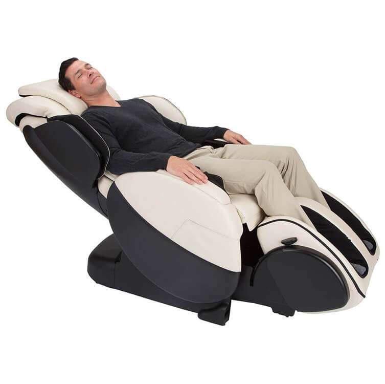 Massage chair recliner side view