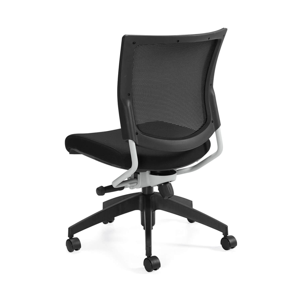 Mesh back office chair rear view