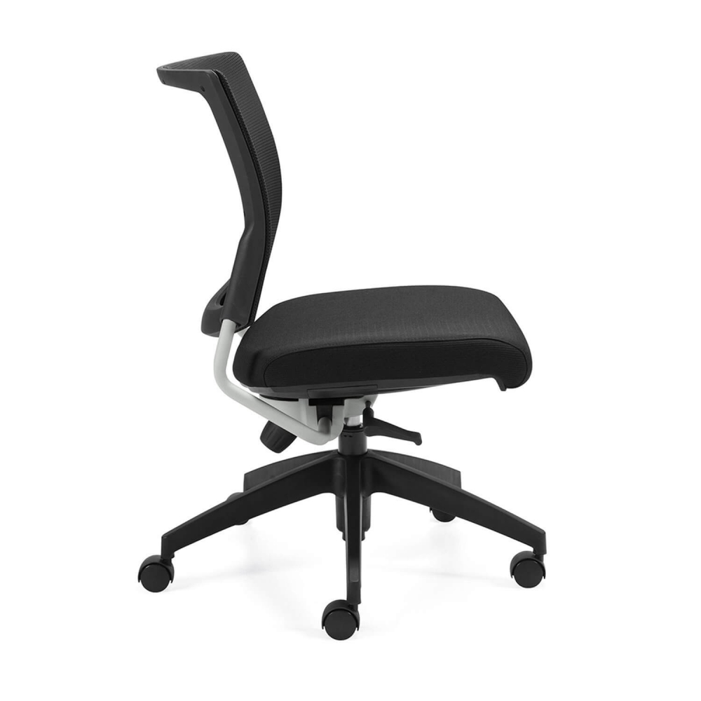 Mesh back office chair side view