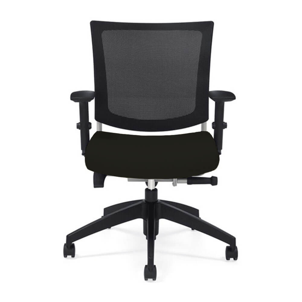 mesh desk chair front view