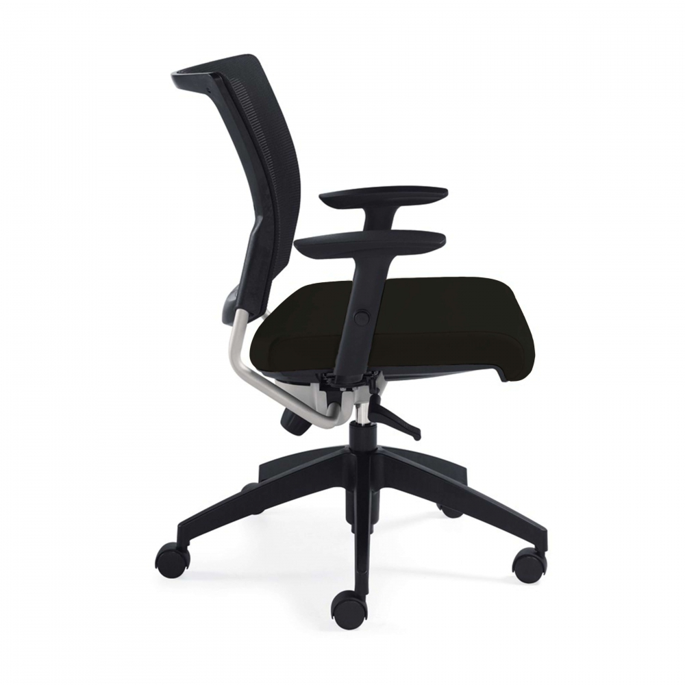 mesh desk chair side view