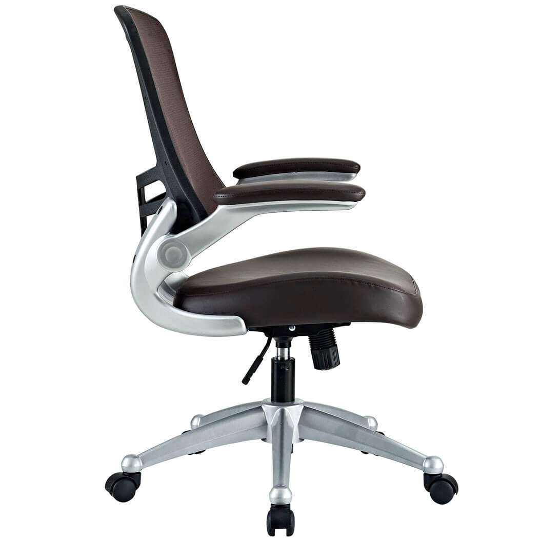Mesh desk chairs side view