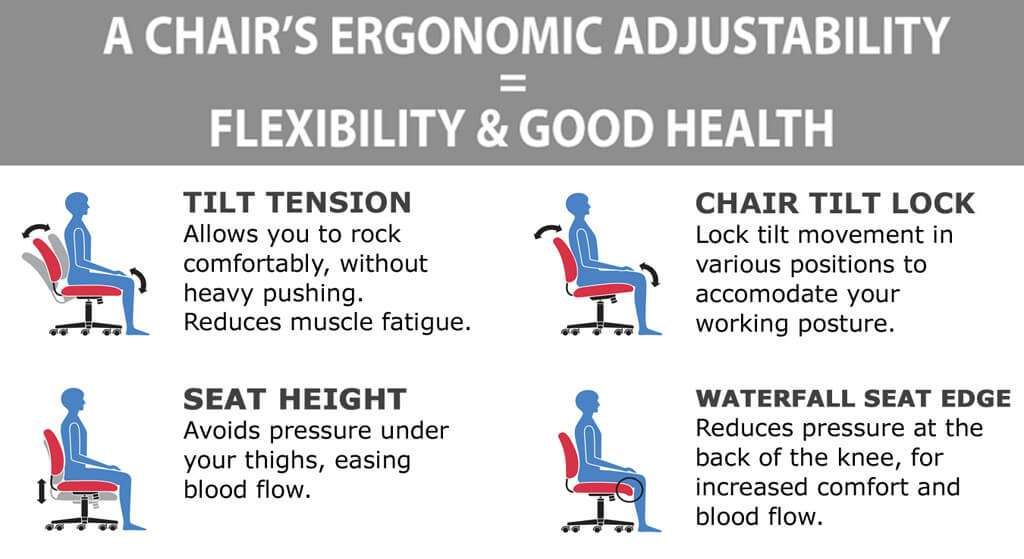 Mesh office chair ergonomics