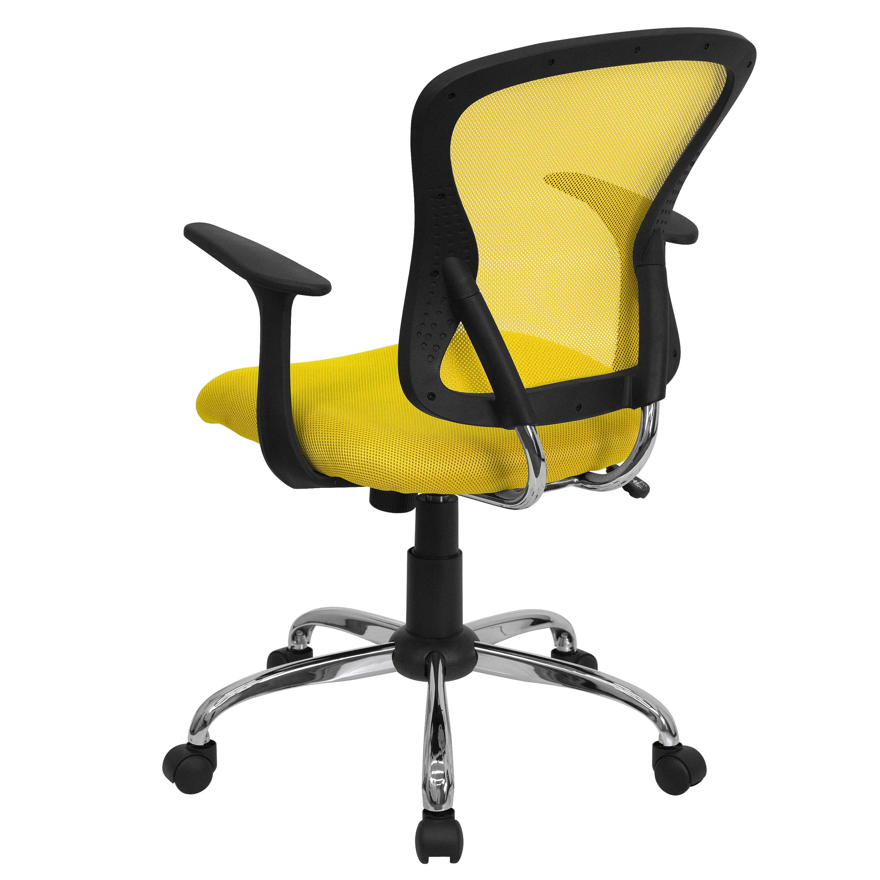 Mesh office chair rear view