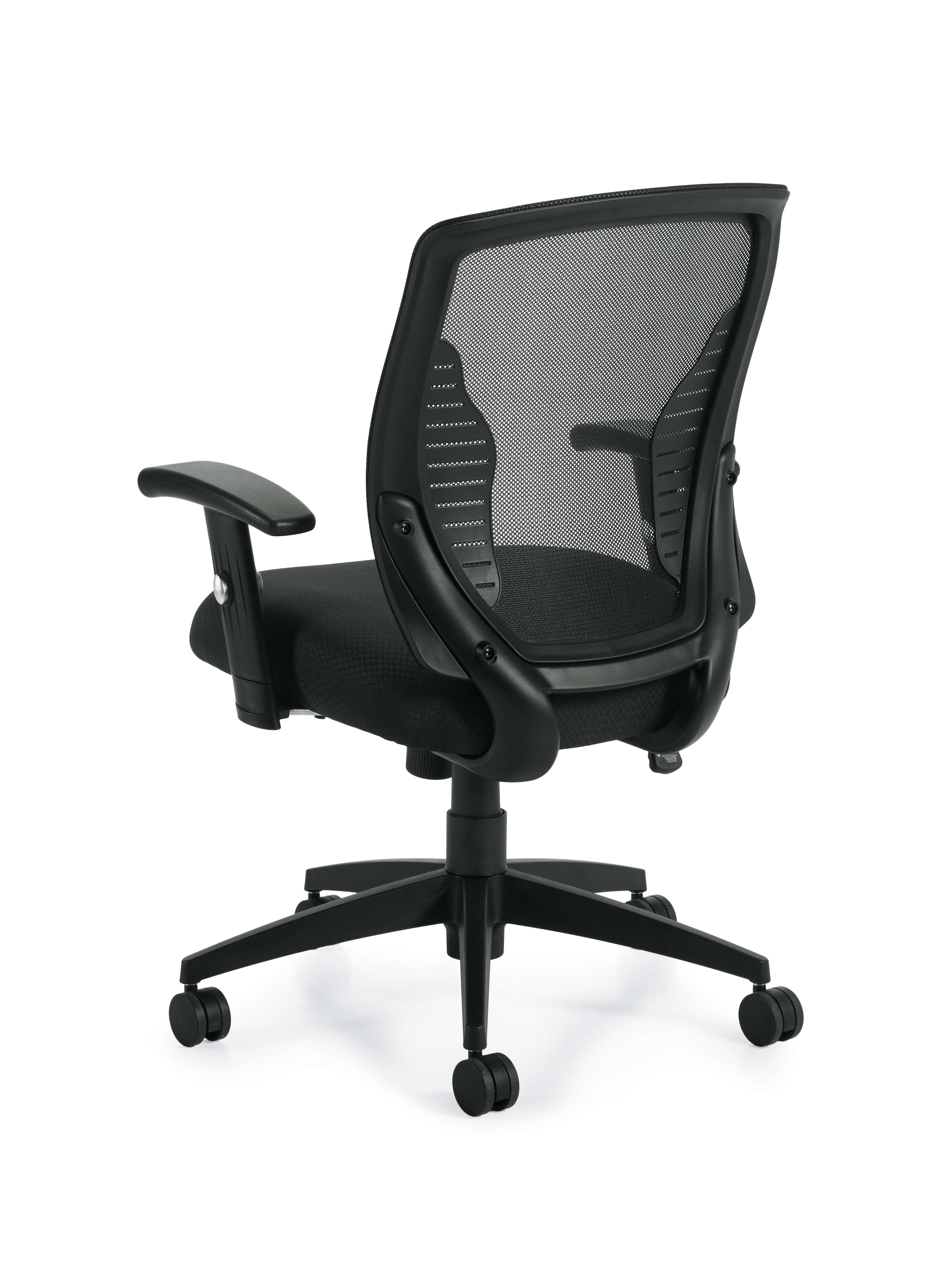 Mesh seat office chair rear view 1
