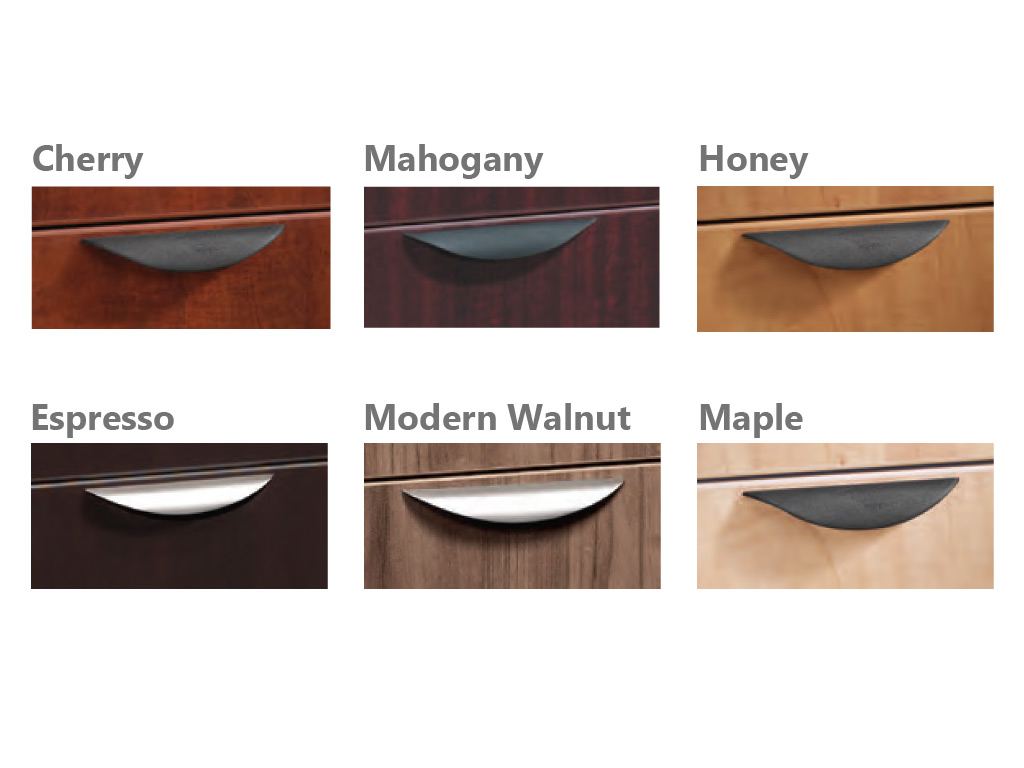 Metal office furniture handles