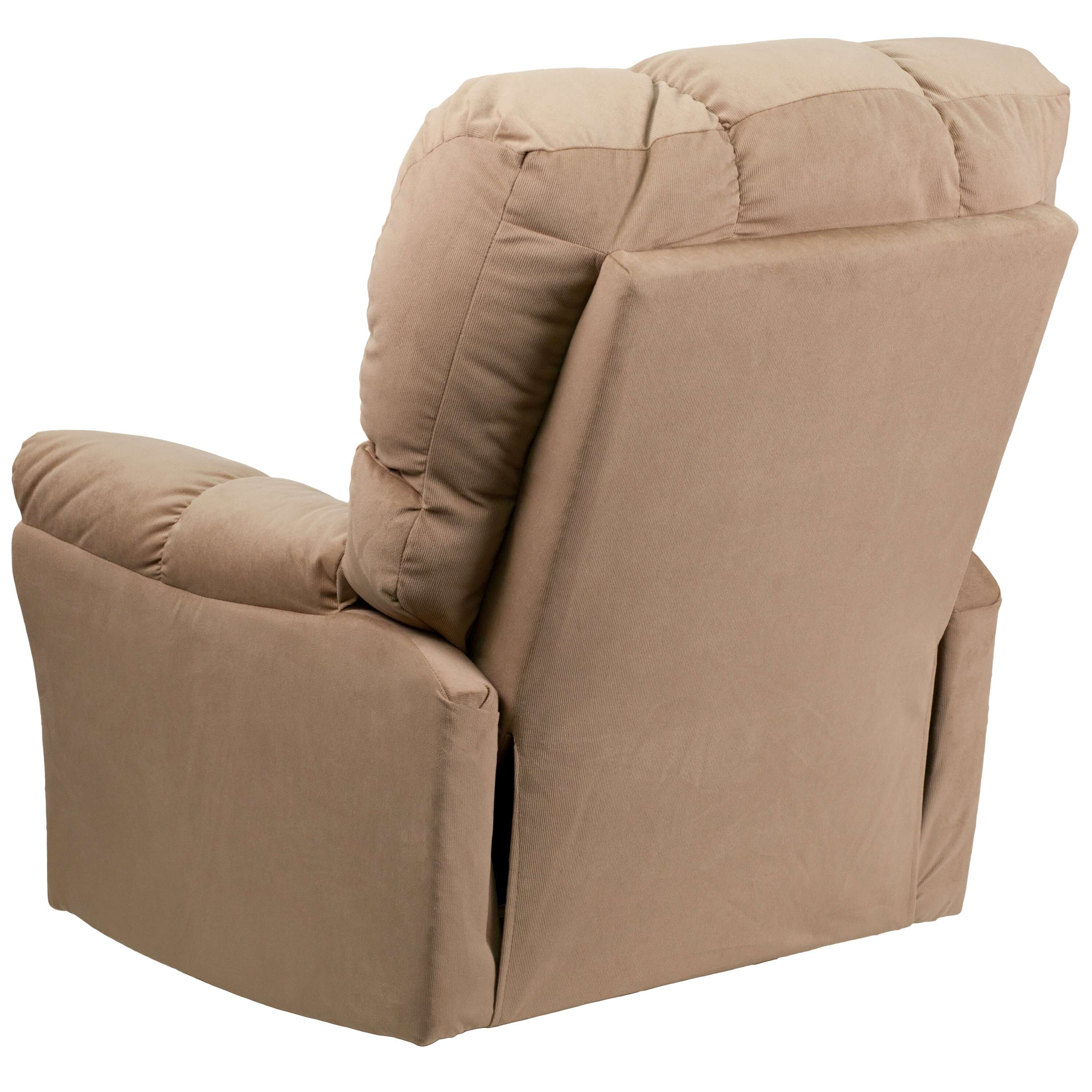 Microfiber recliner back view 1