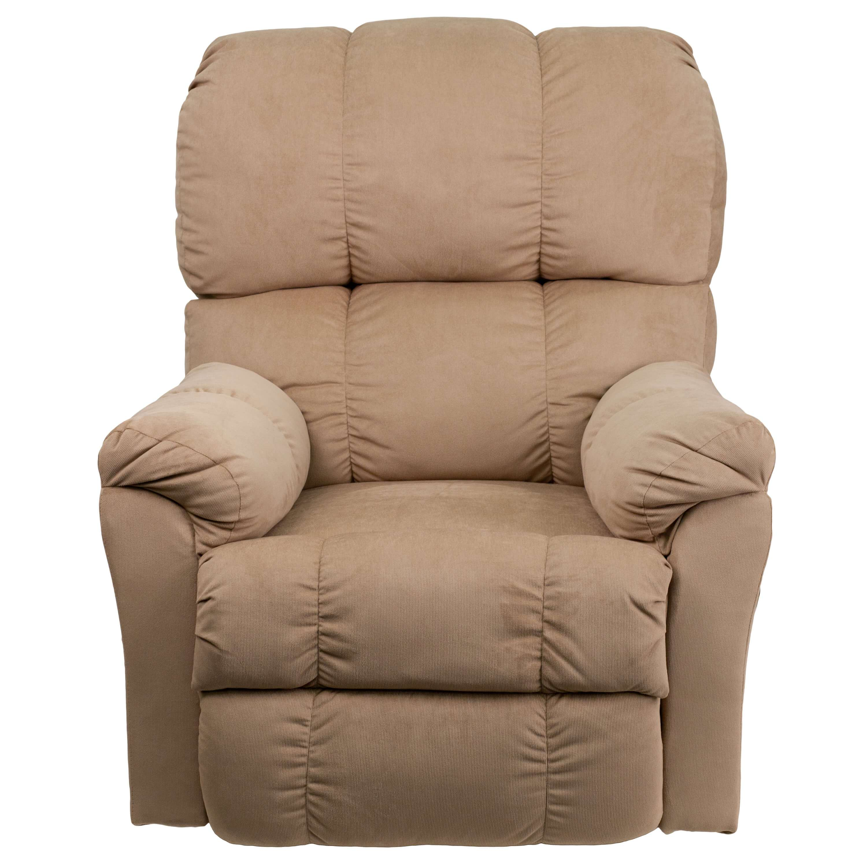 Microfiber recliner front view 1