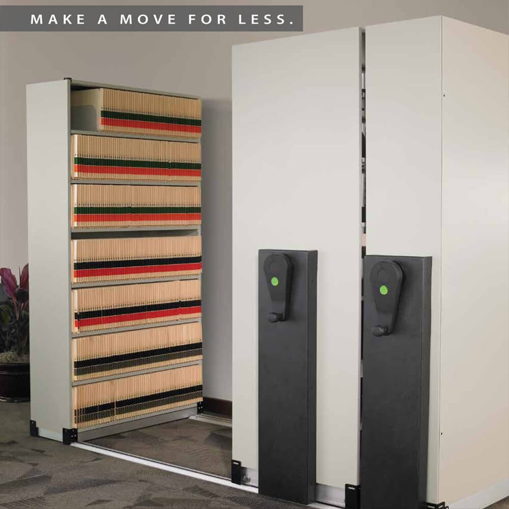 Mobile storage shelving photo