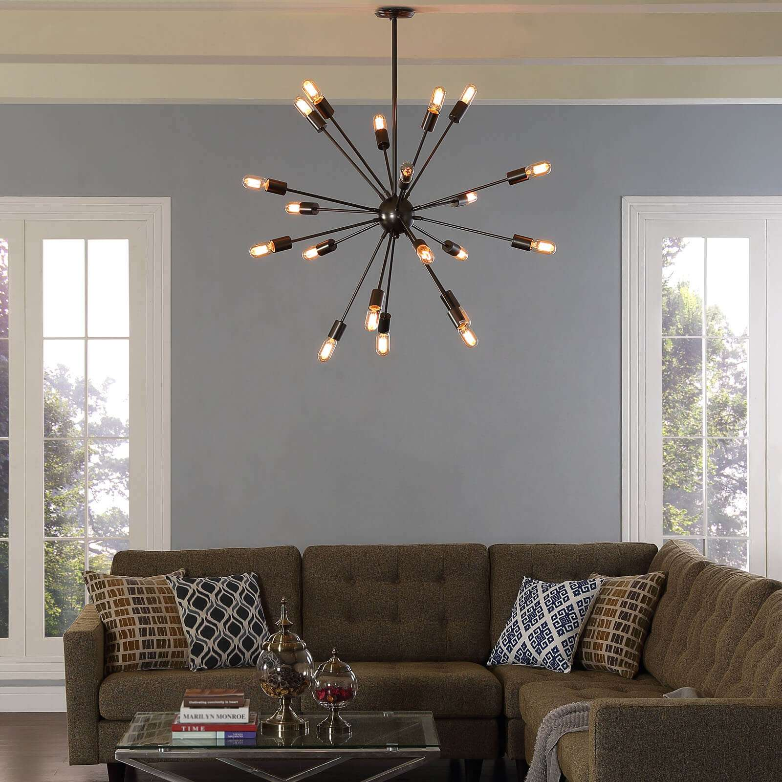 Modern ceiling lamps environmental view