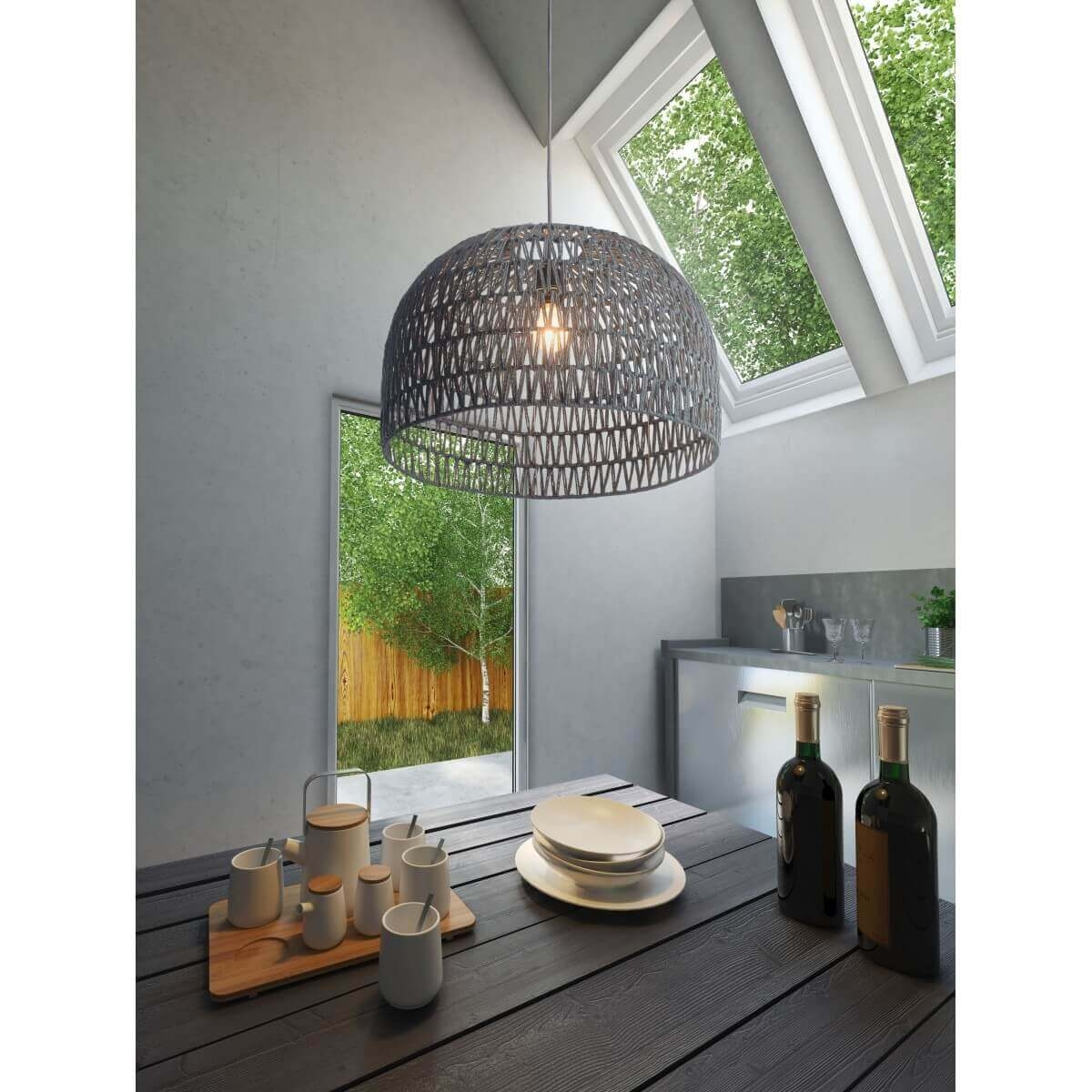 Modern kitchen lighting environmental view