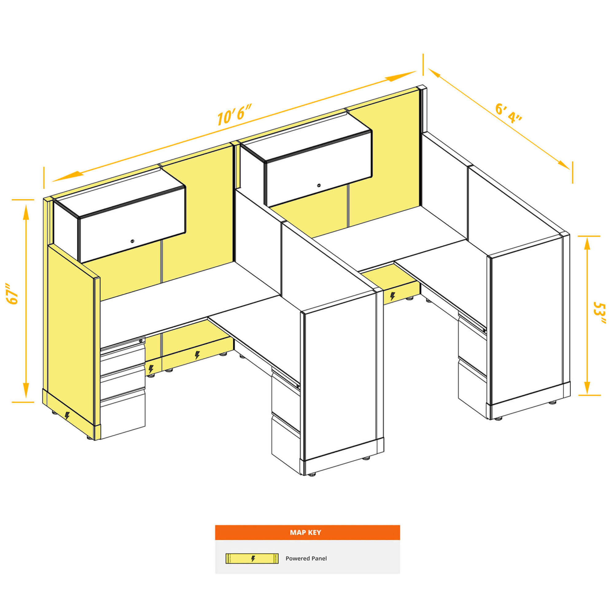 Modular furniture CUB 2 53 67 P 56 PSO