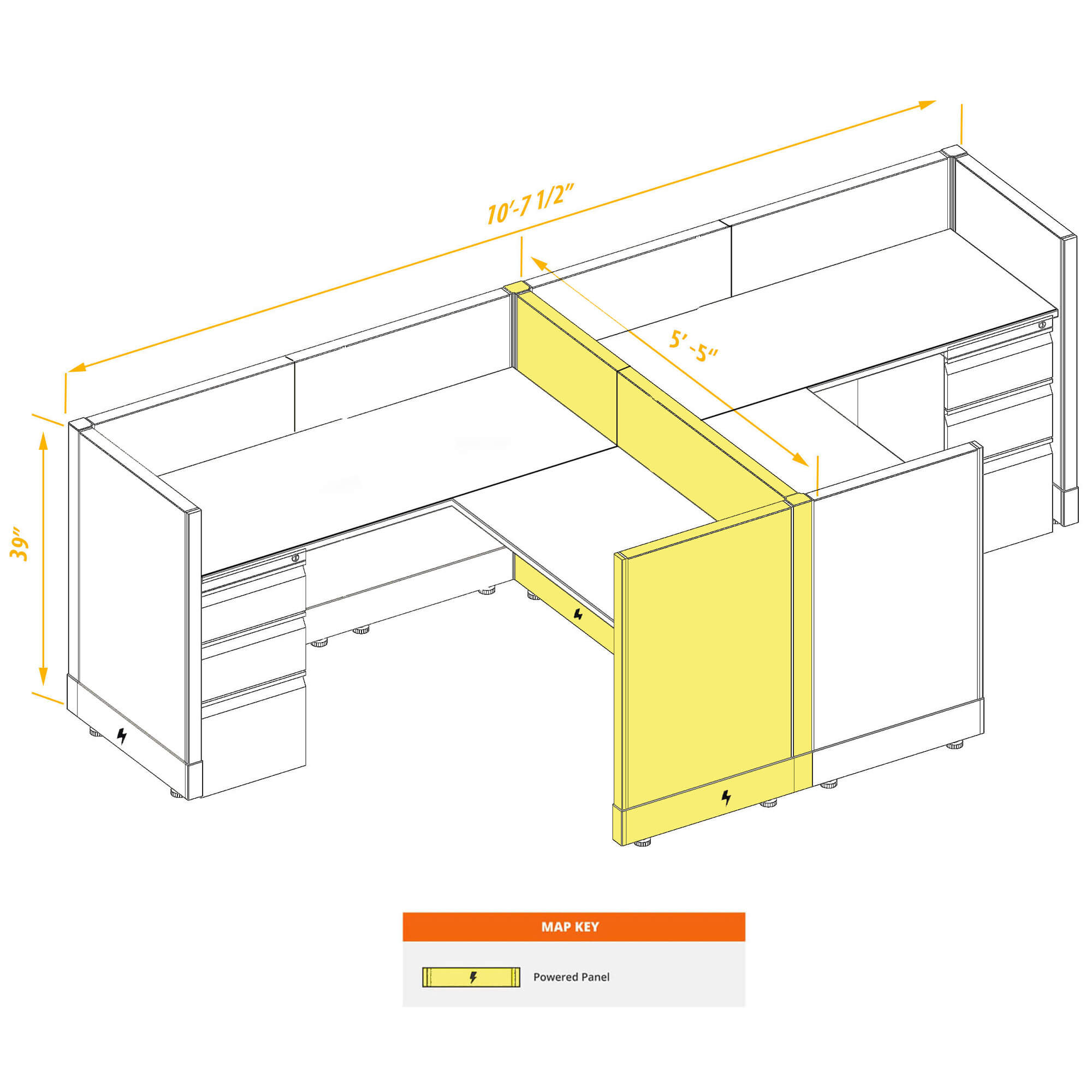 Modular furniture CUB 2a 39 P 55 PSO