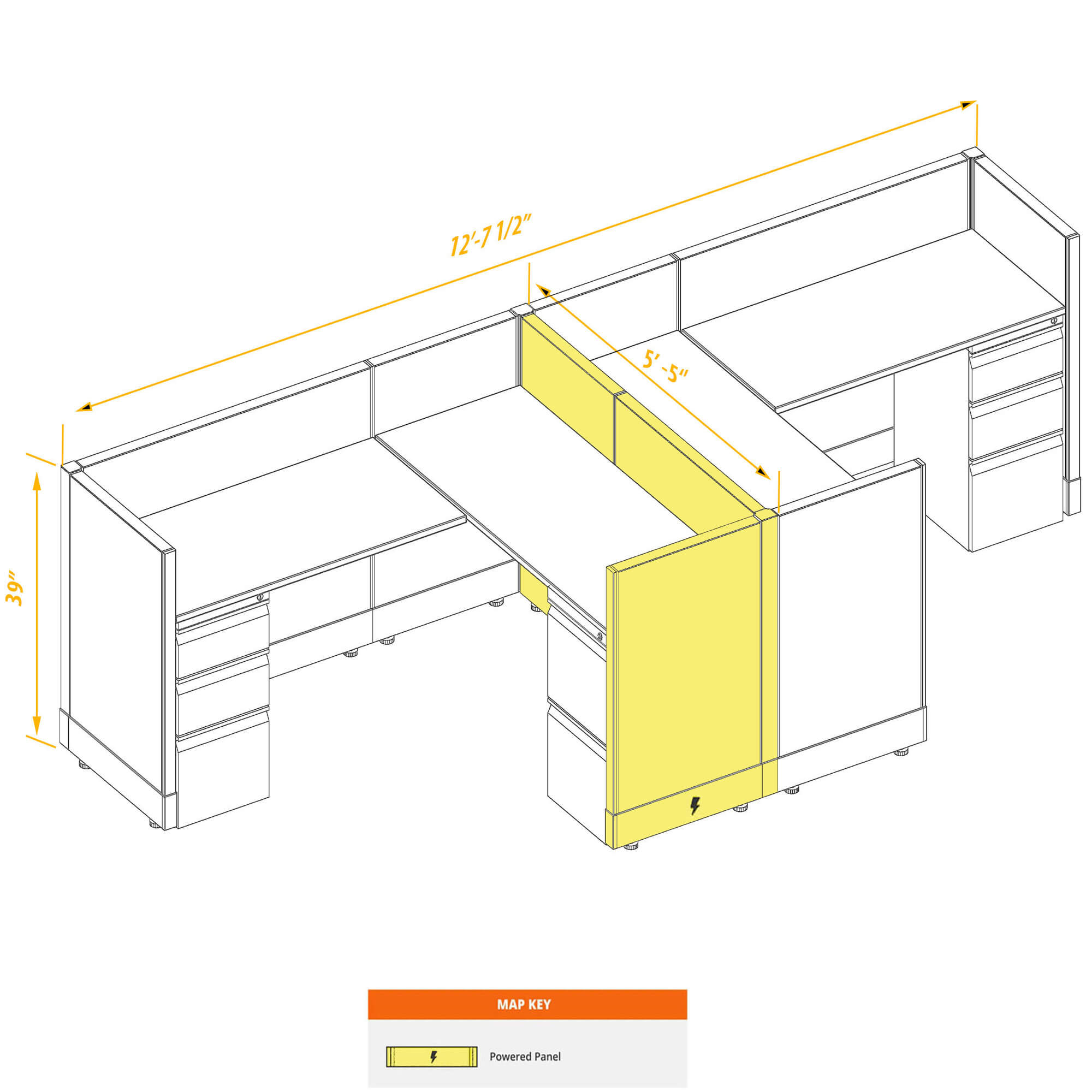 Modular furniture CUB 2a 39 P 56 PSO